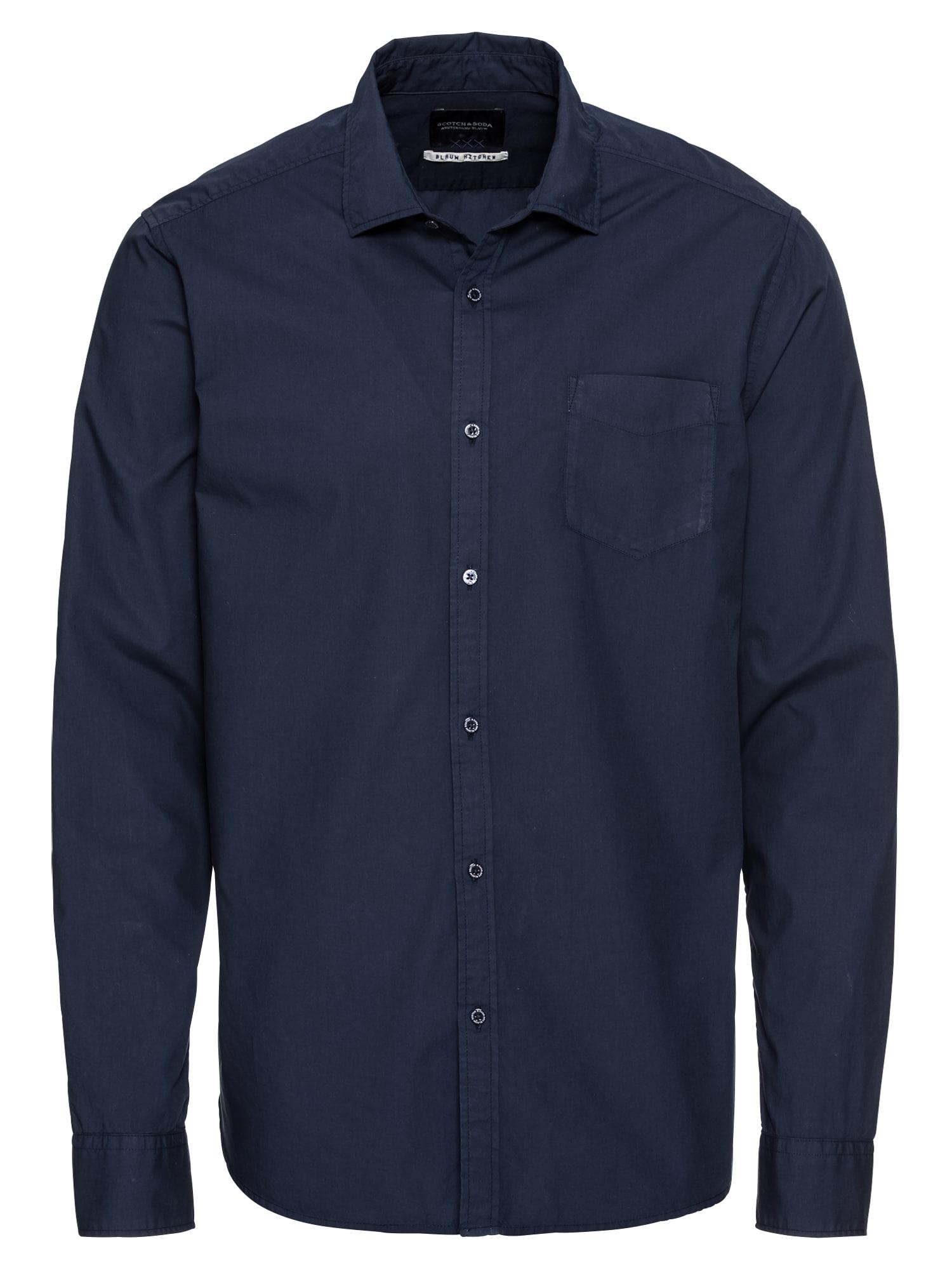SCOTCH  and  SODA Heren Overhemd Ams Blauw lightweight  donkerblauw