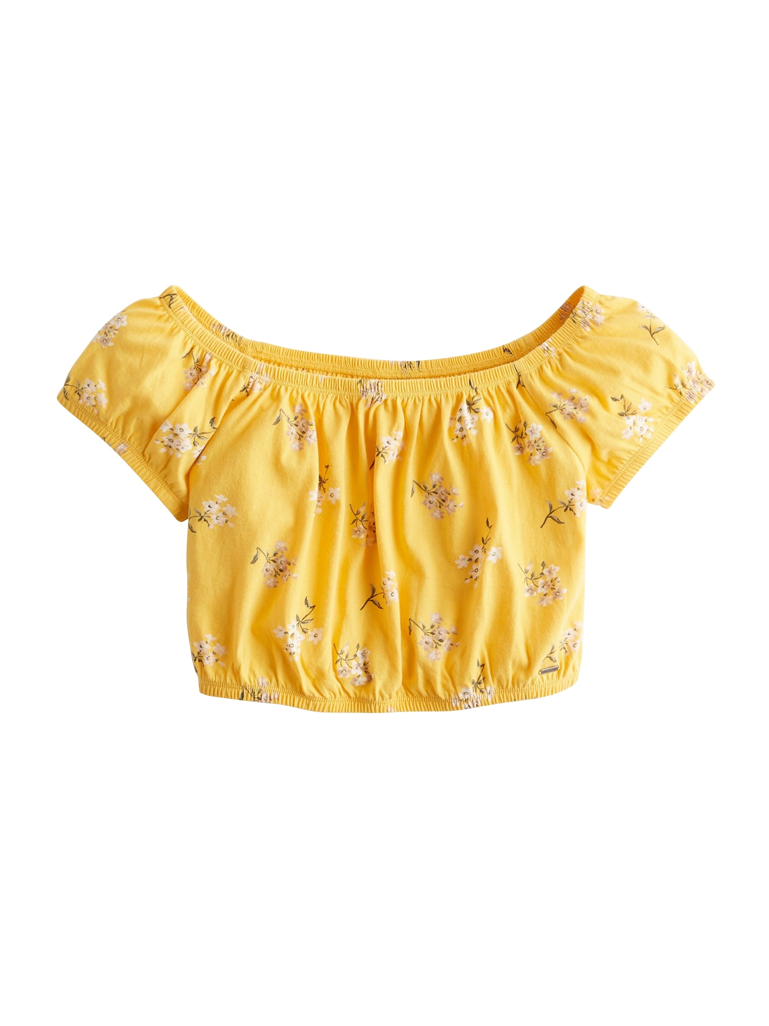 Tričko SB19-SS SLIM CAP SLEEVE žlutá HOLLISTER