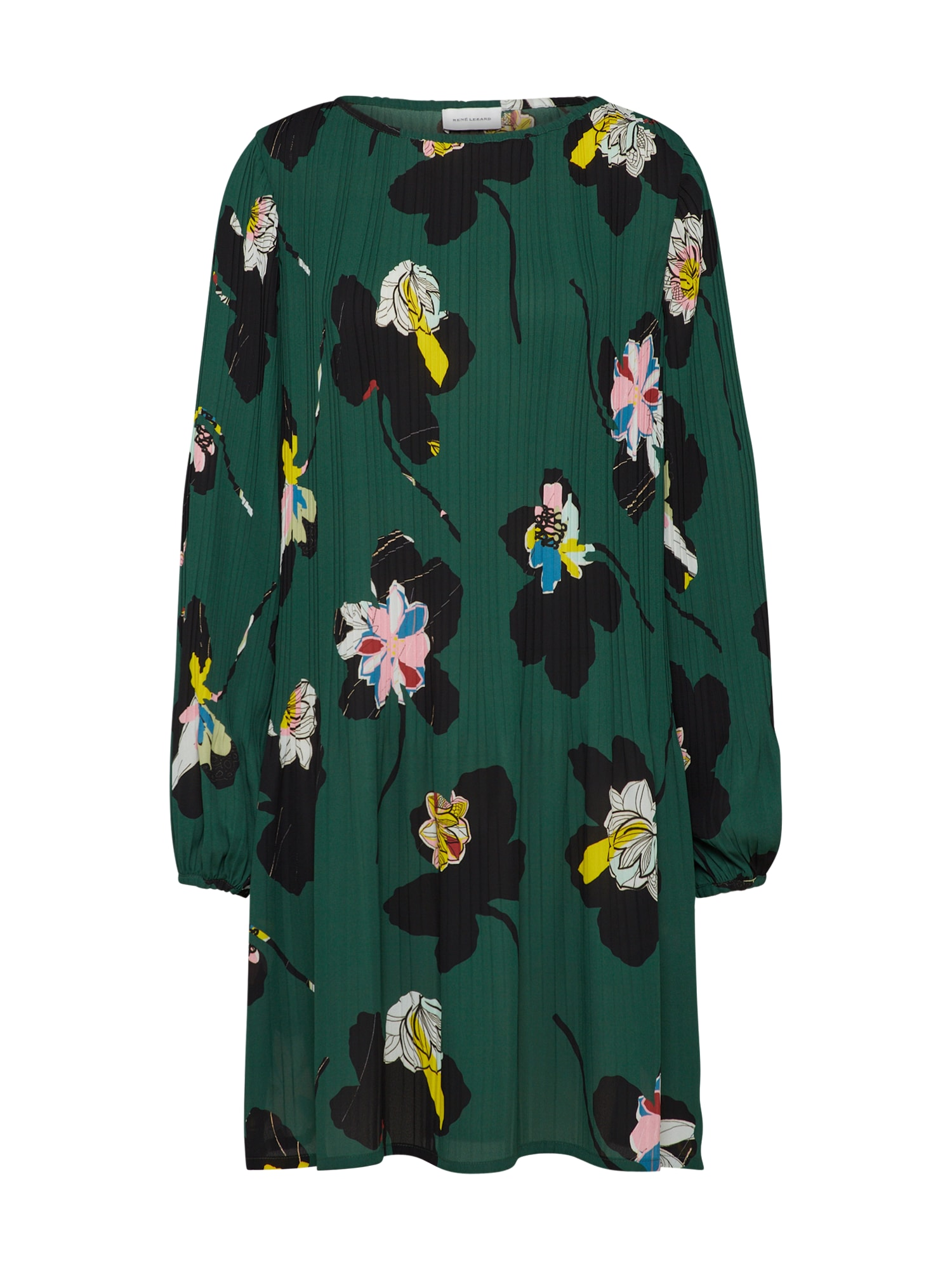 Šaty tmavě zelená mix barev RENÉ LEZARD