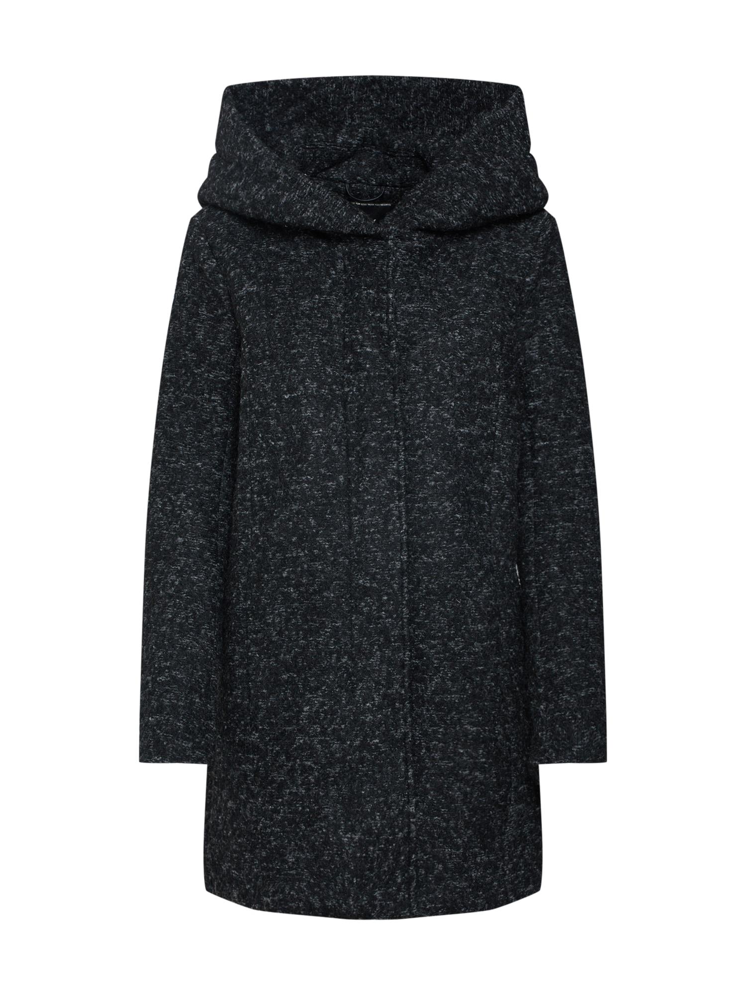 Přechodný kabát černý melír ONLY