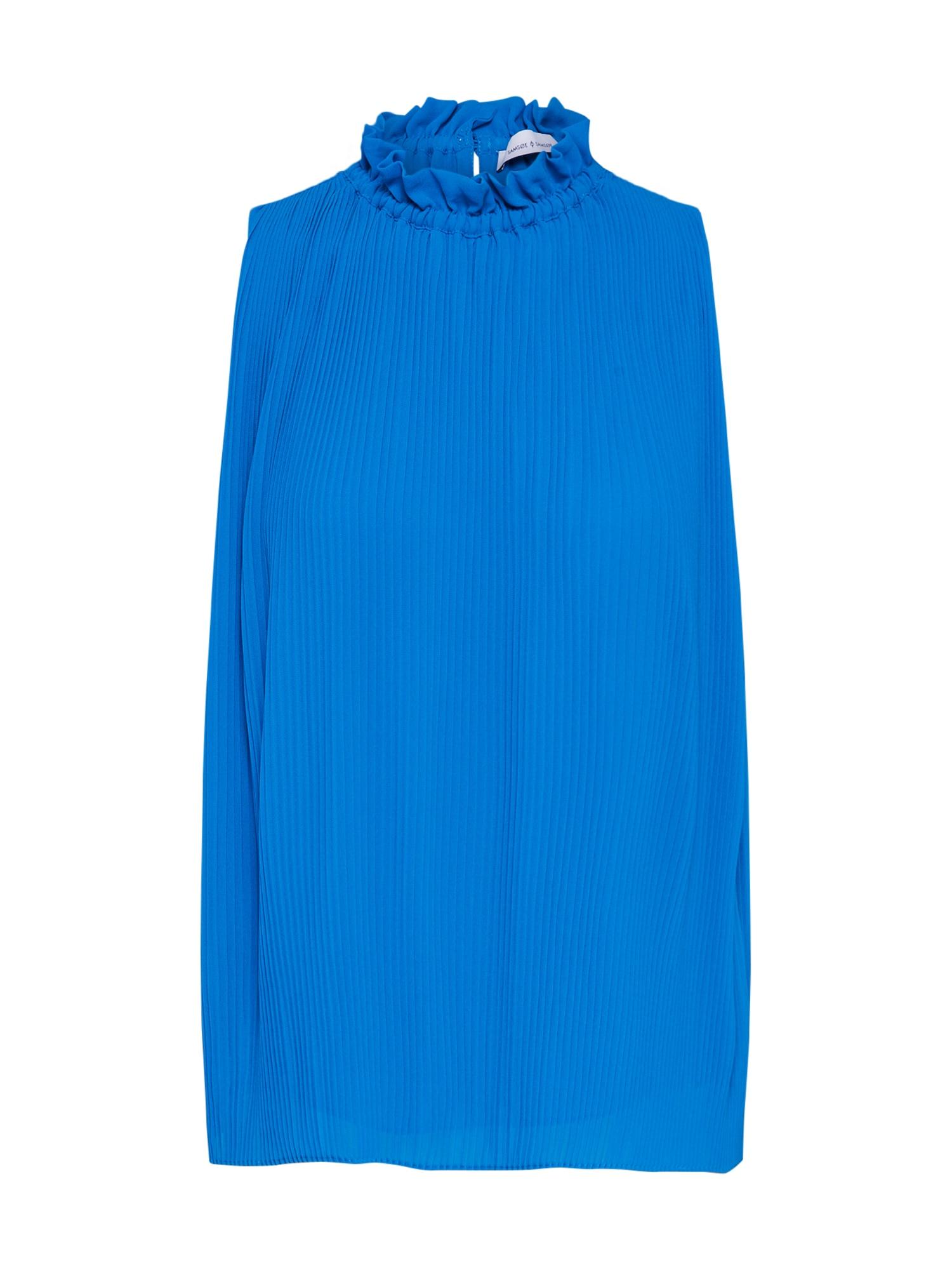 Top Malie modrá Samsoe & Samsoe