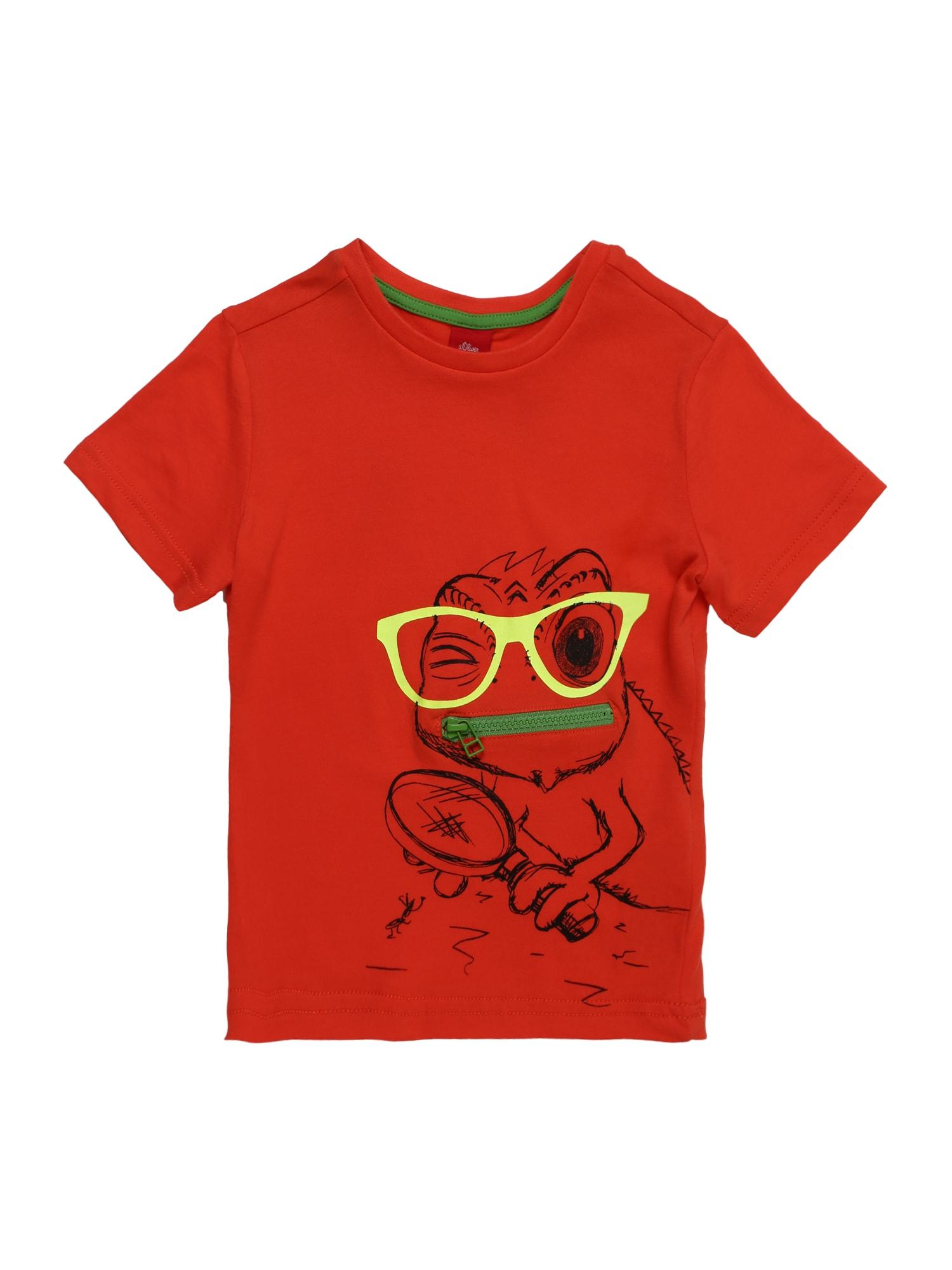 Tričko žlutá zelená červená černá S.Oliver Junior