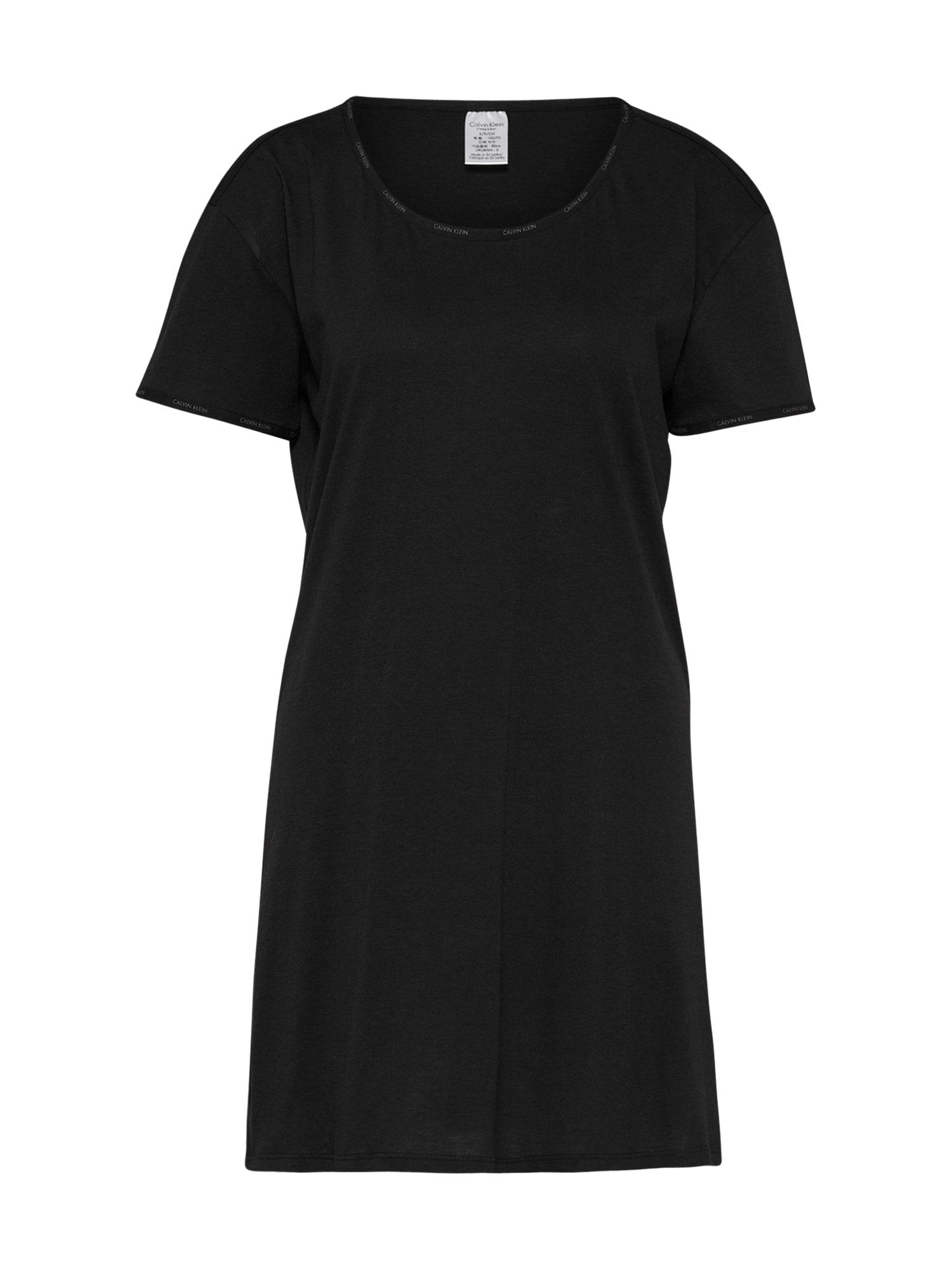 Tričko na spaní černá Calvin Klein Underwear