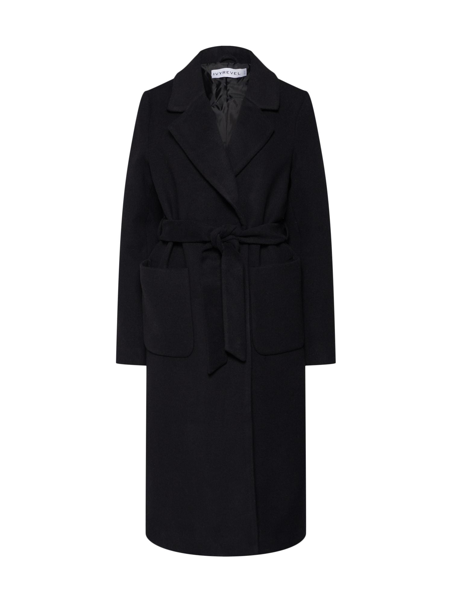 Zimní kabát černá IVYREVEL