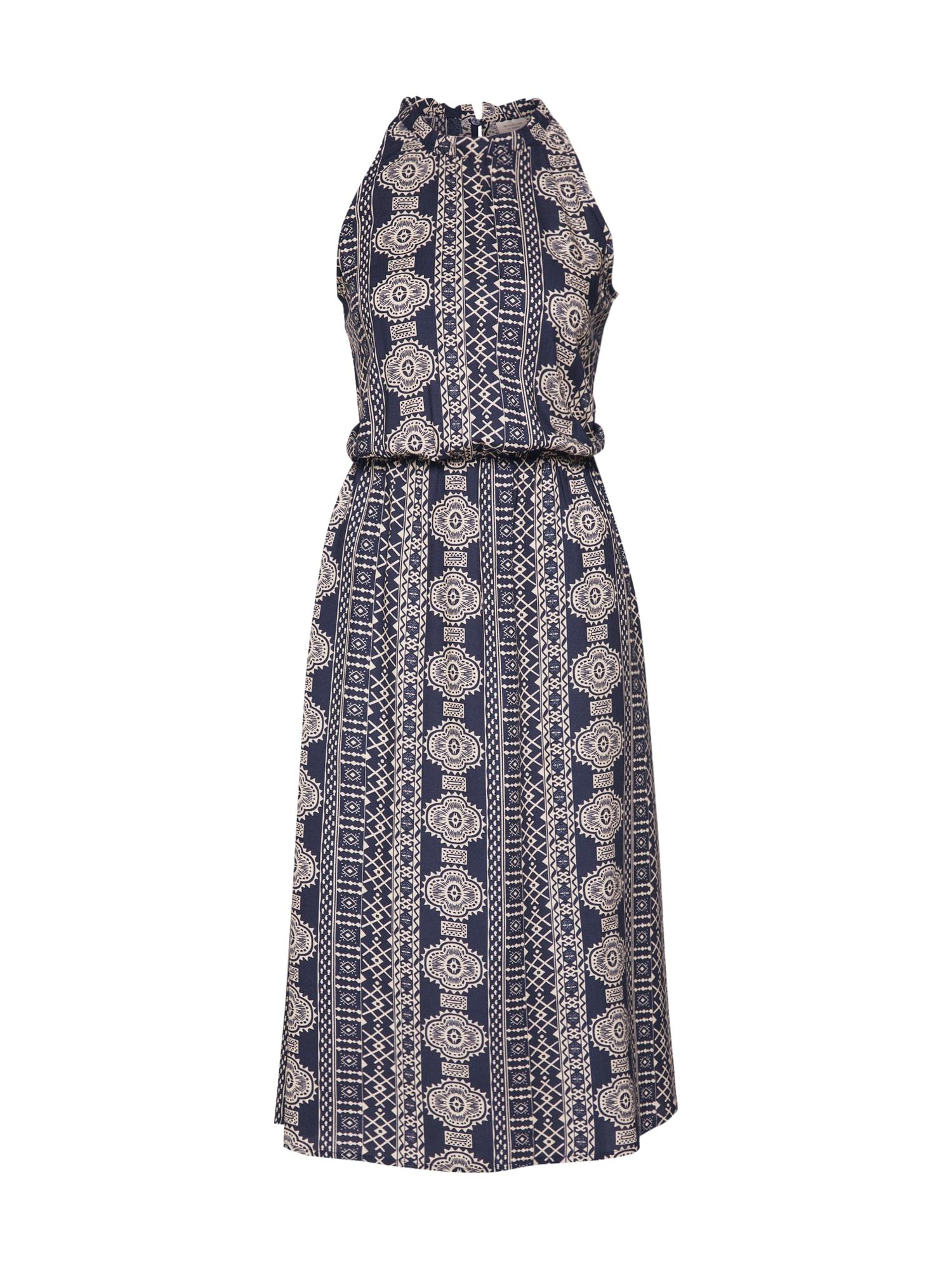 JACQUELINE De YONG Letní šaty 'JDYTRICK TREATS S/L DRESS'  tmavě modrá
