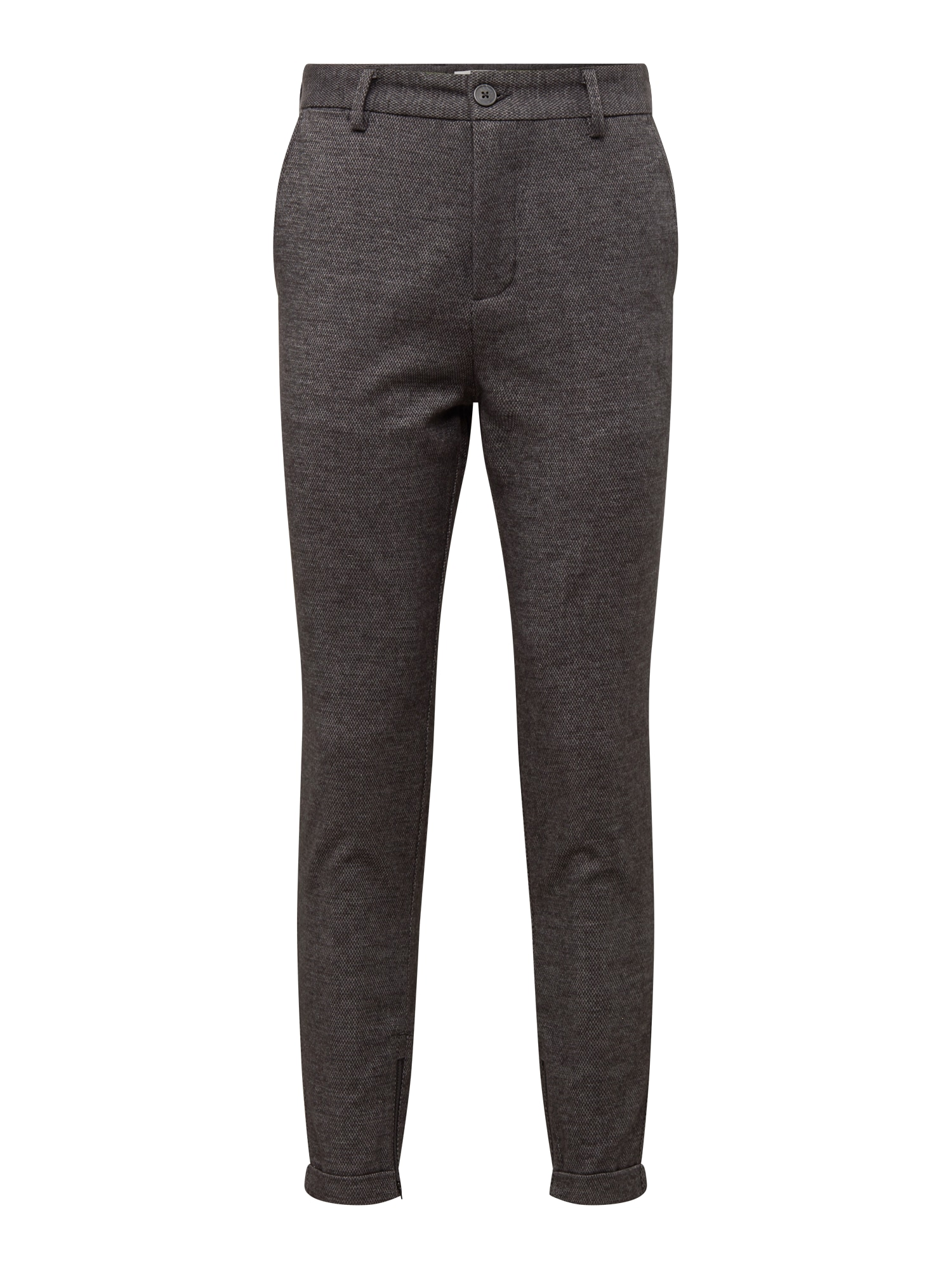 Chino kalhoty SLHSPECIAL-ALEX MIX ZIP PANTS W EX šedá SELECTED HOMME