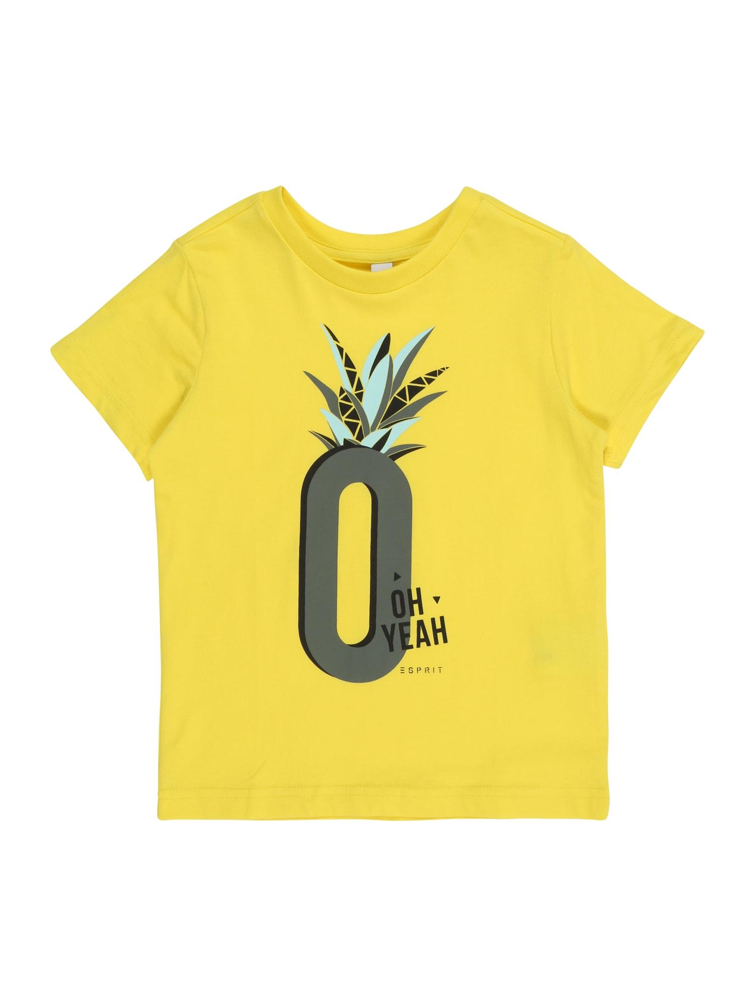 Tričko žlutá šedá ESPRIT
