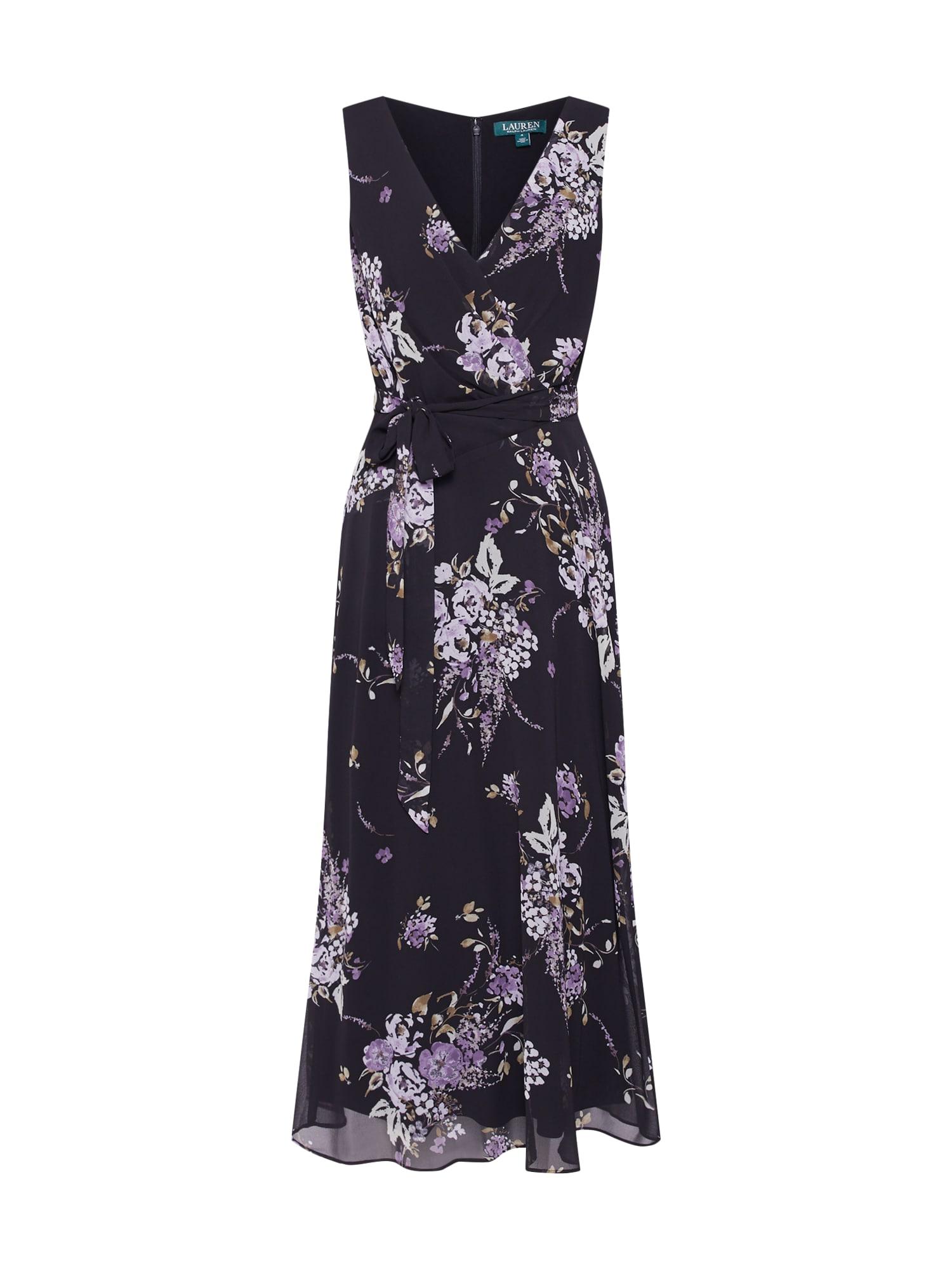 Koktejlové šaty OLENA mix barev černá Lauren Ralph Lauren