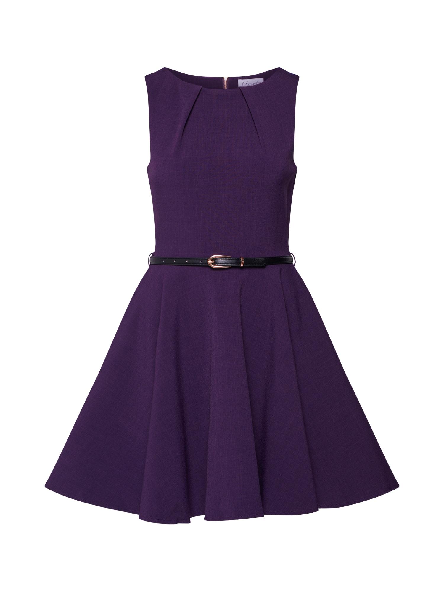 Koktejlové šaty purpurová Closet London