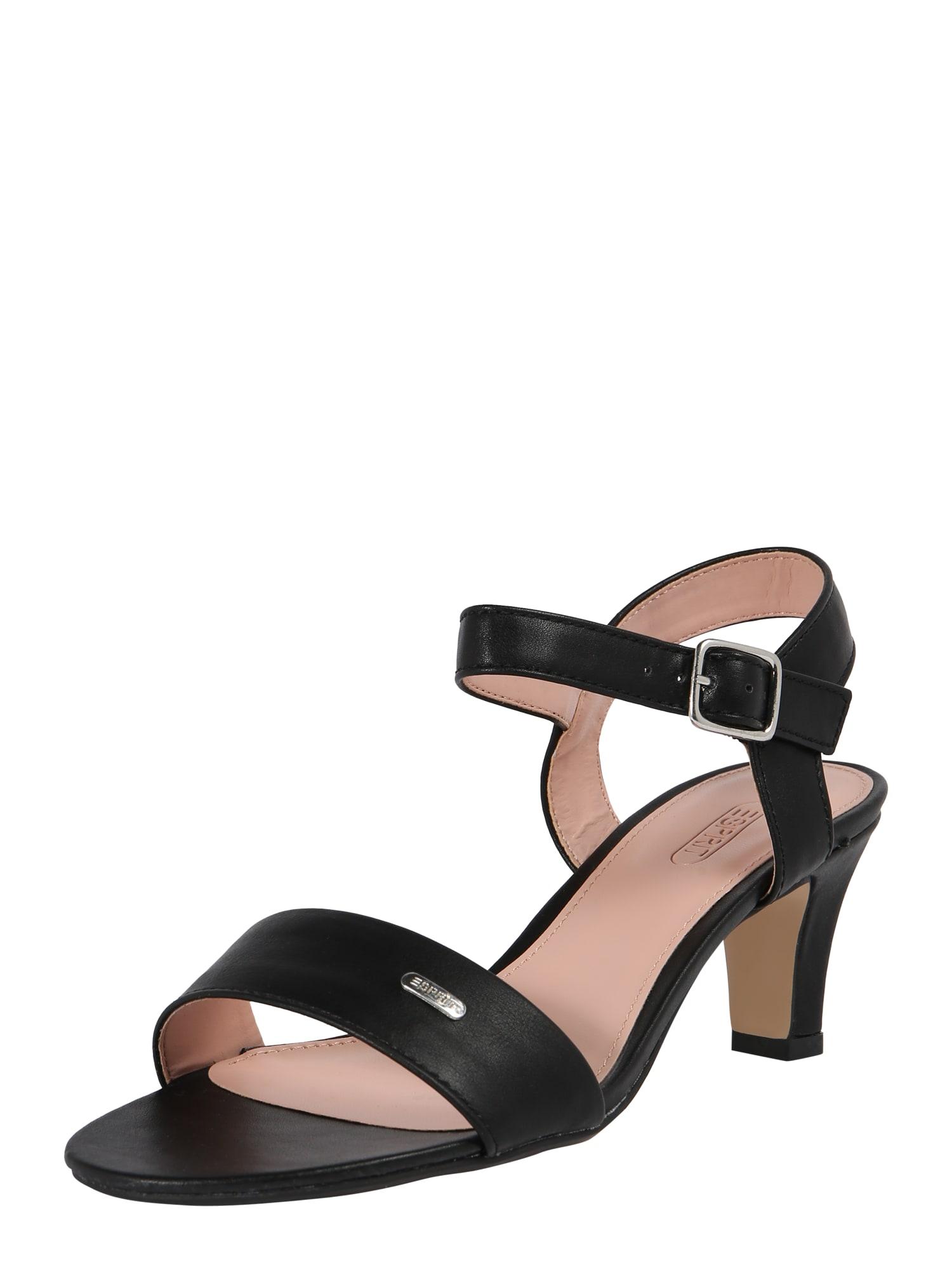 Sandály Delfy Sandal černá ESPRIT