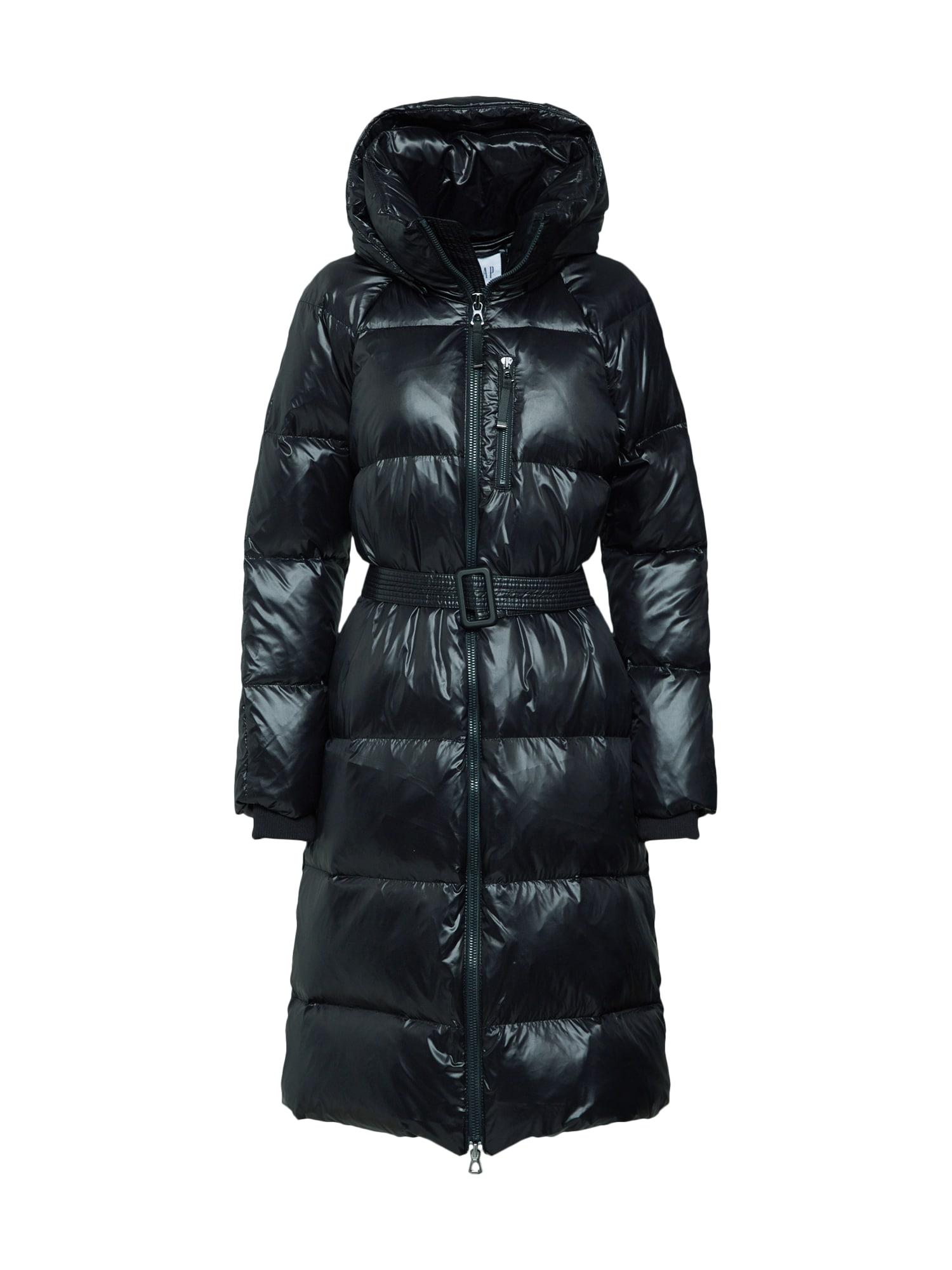 Přechodný kabát černá GAP