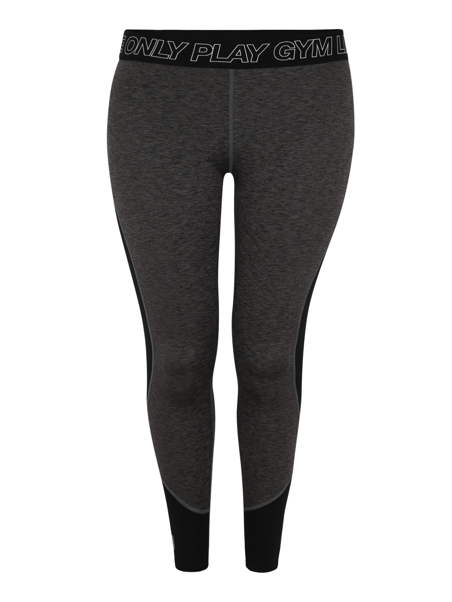 Sportovní kalhoty JACEY tmavě šedá černá bílá Only Play Curvy