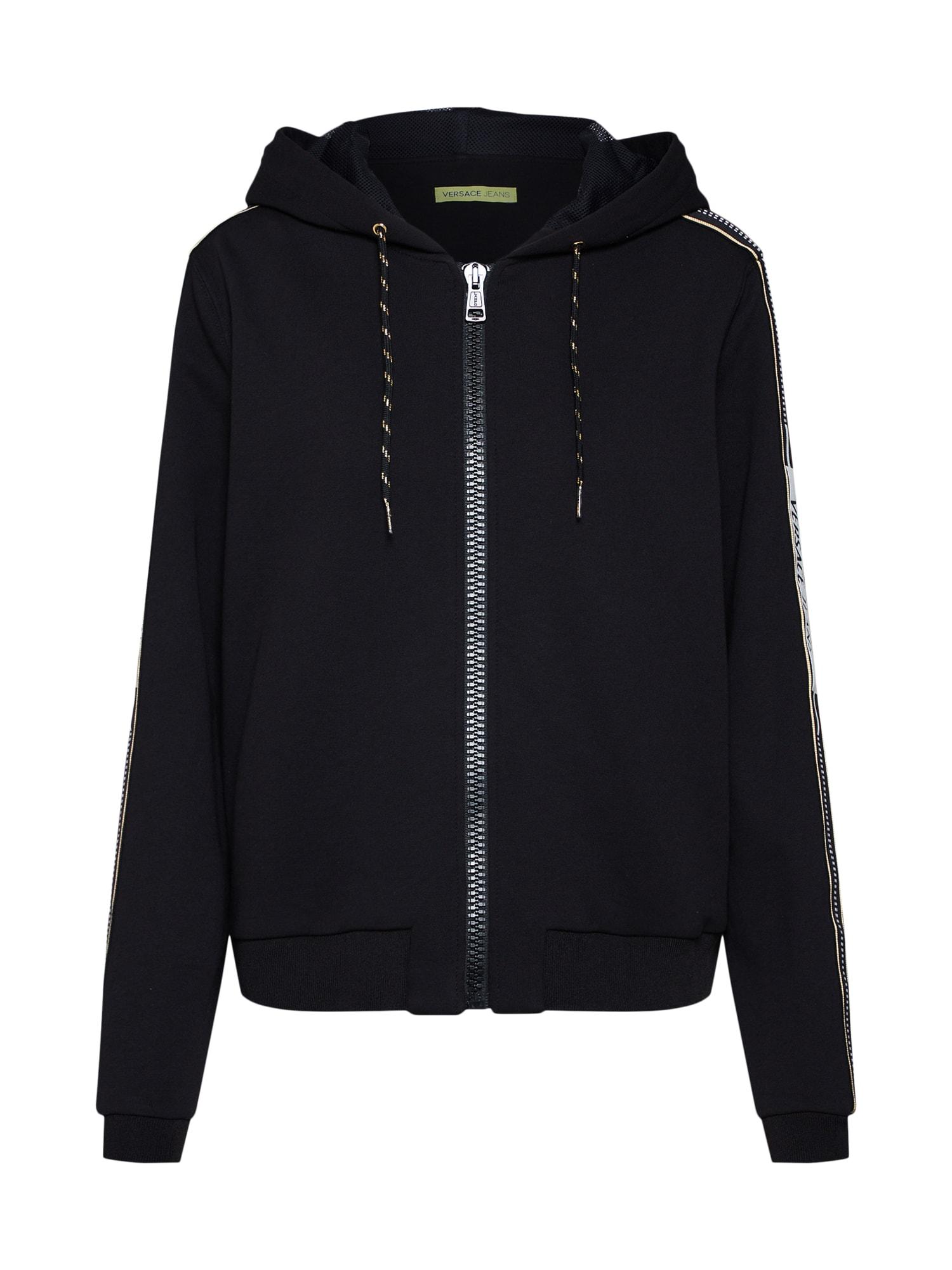 Mikina s kapucí TDP306 since černá Versace Jeans