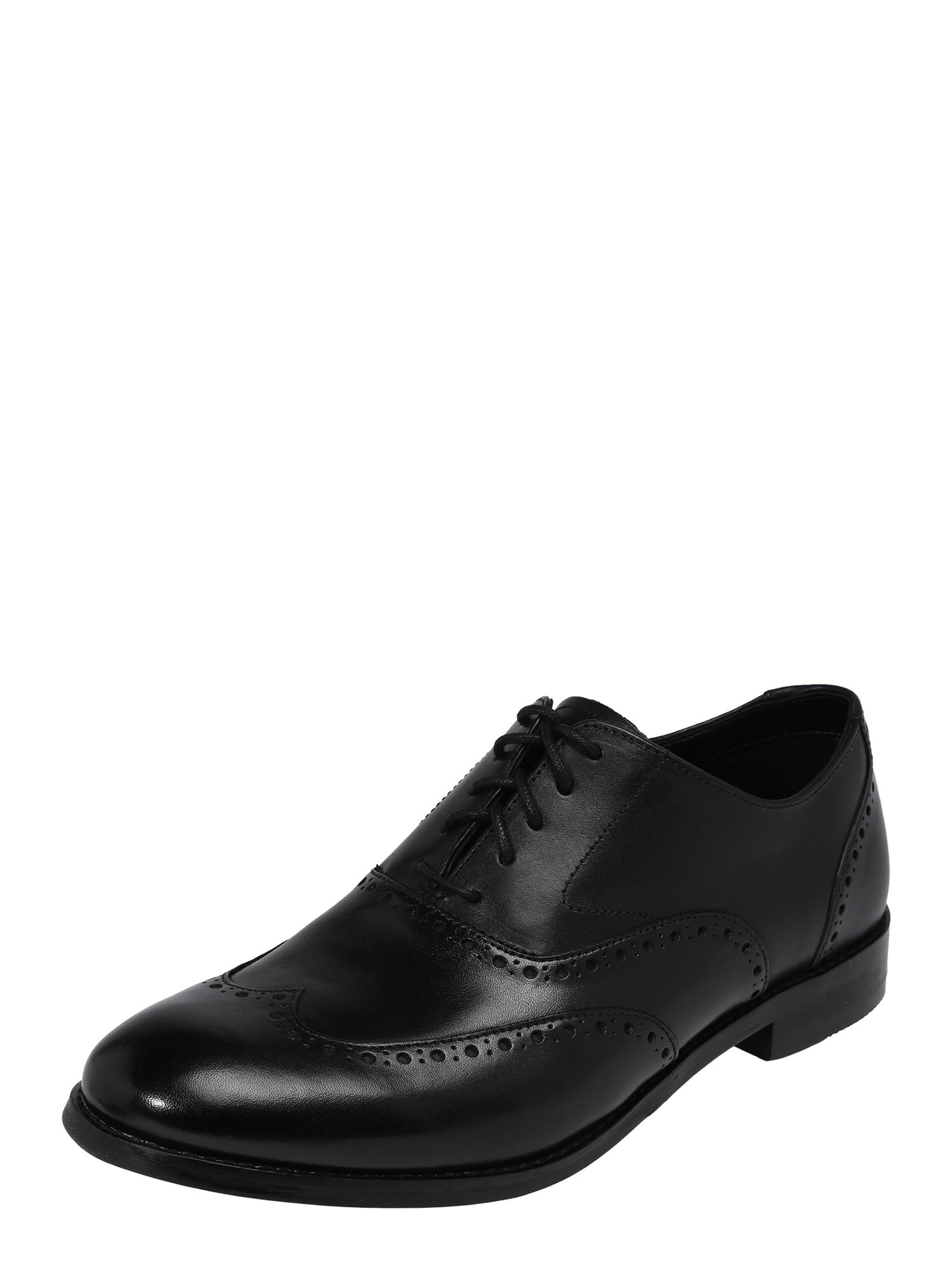 Šněrovací boty Edward Walk černá CLARKS