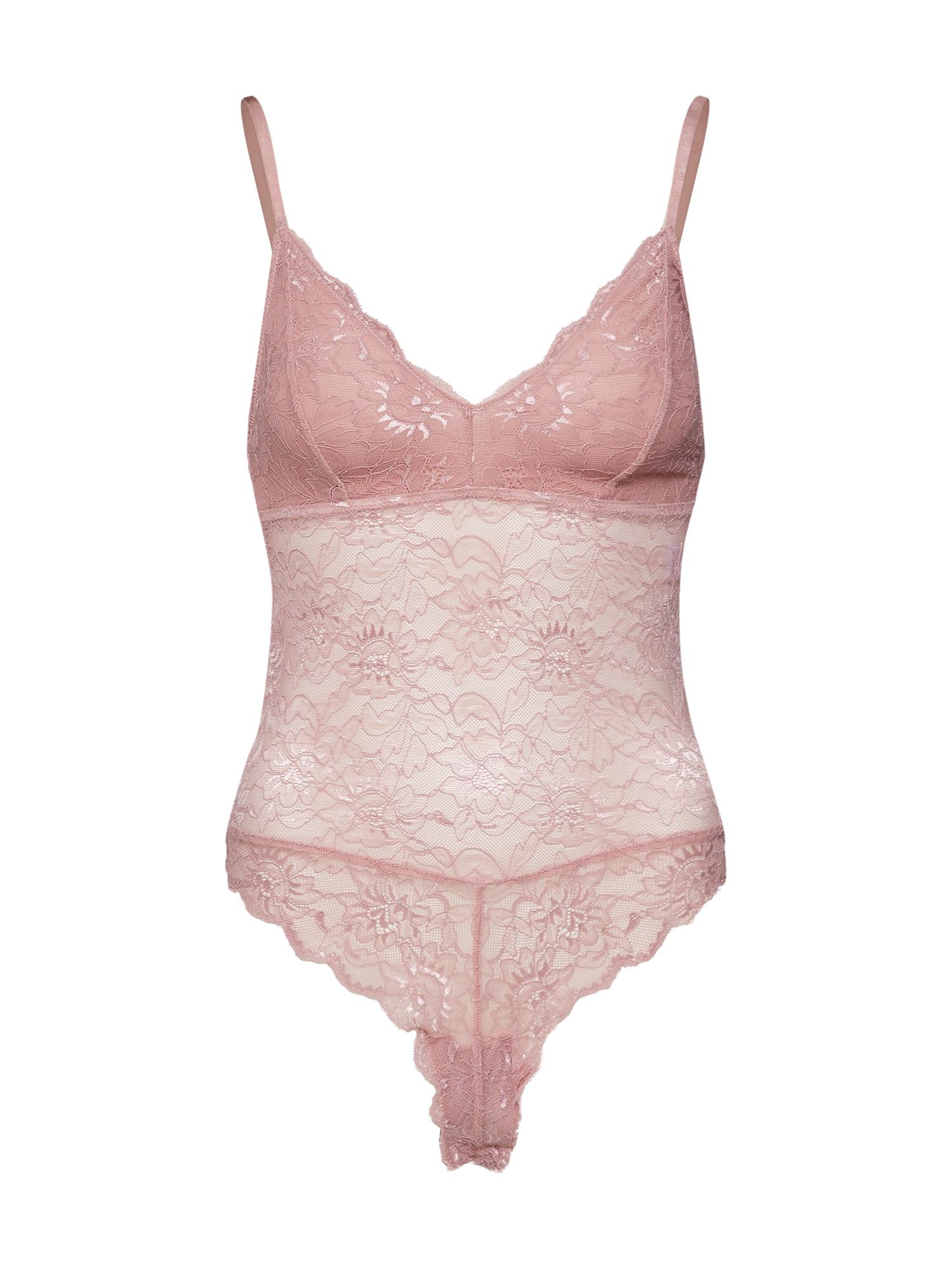 Top lace bodysuit růžová NA-KD