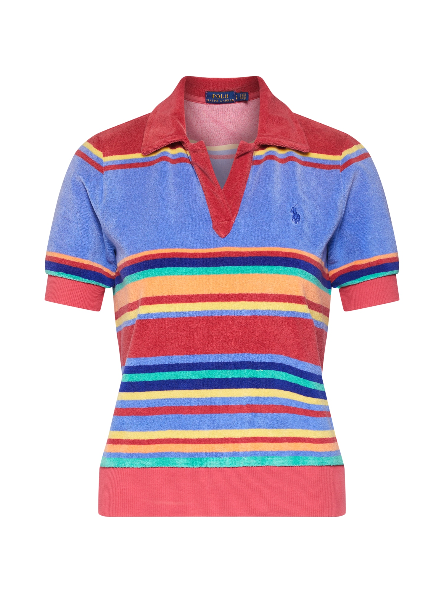 Tričko TERRY POLO-SHORT SLEEVE-KNIT mix barev POLO RALPH LAUREN
