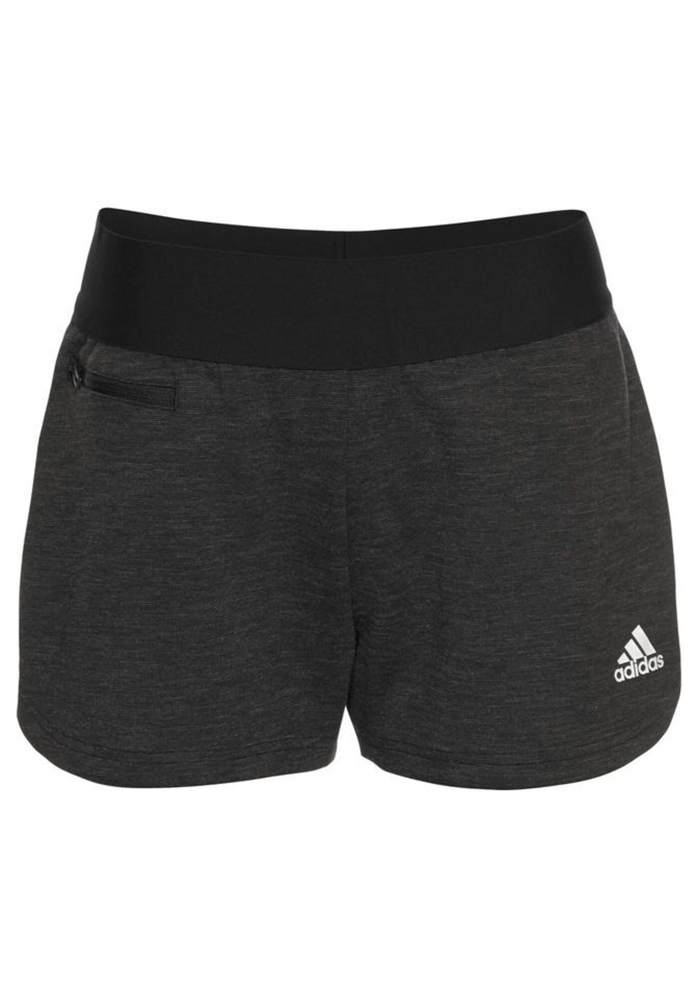 Sportovní kalhoty Id Stadium St černý melír bílá ADIDAS PERFORMANCE