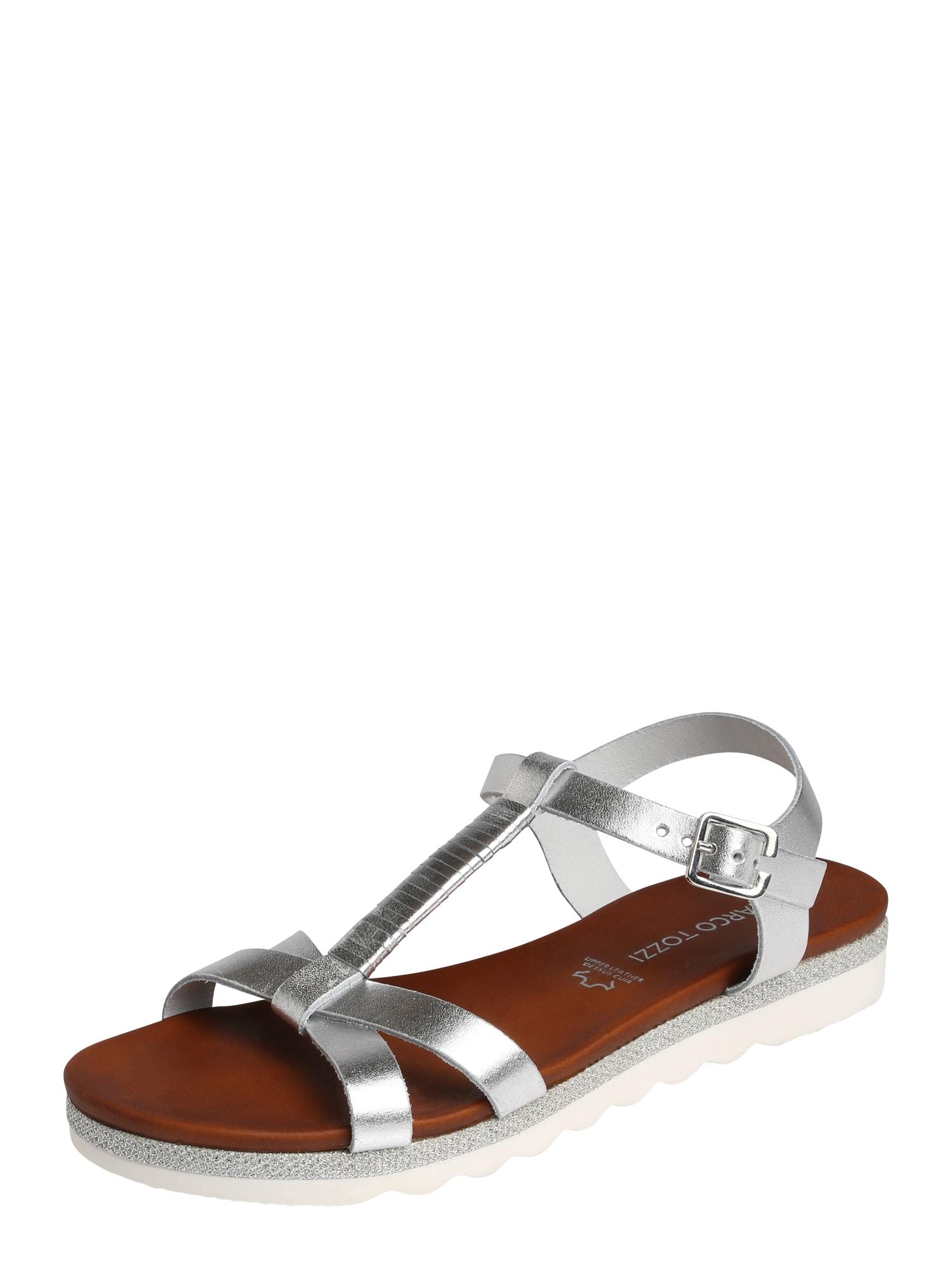Páskové sandály stříbrná MARCO TOZZI
