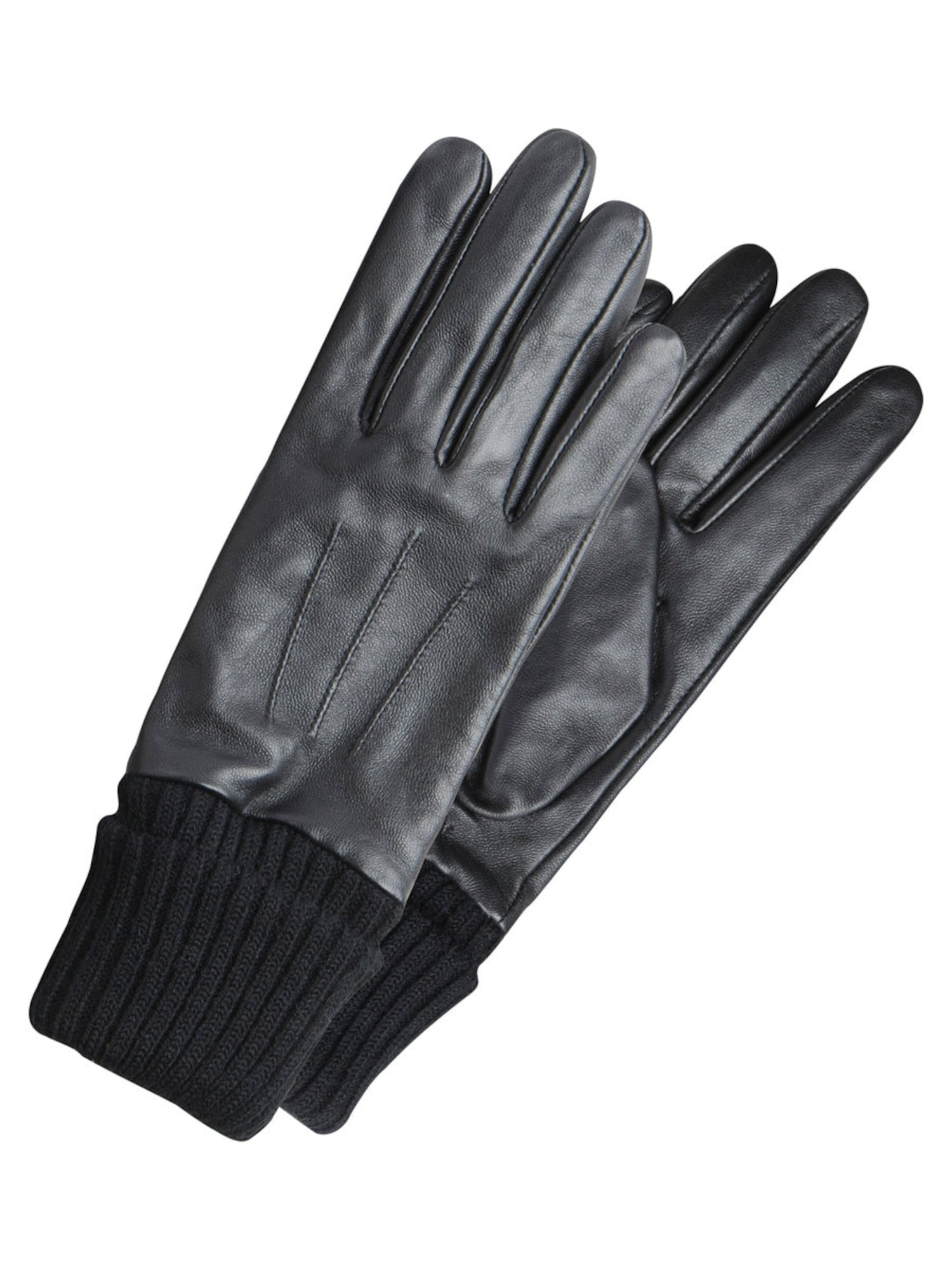 Lederhandschuhe | Accessoires > Handschuhe > Lederhandschuhe | Schwarz | PIECES