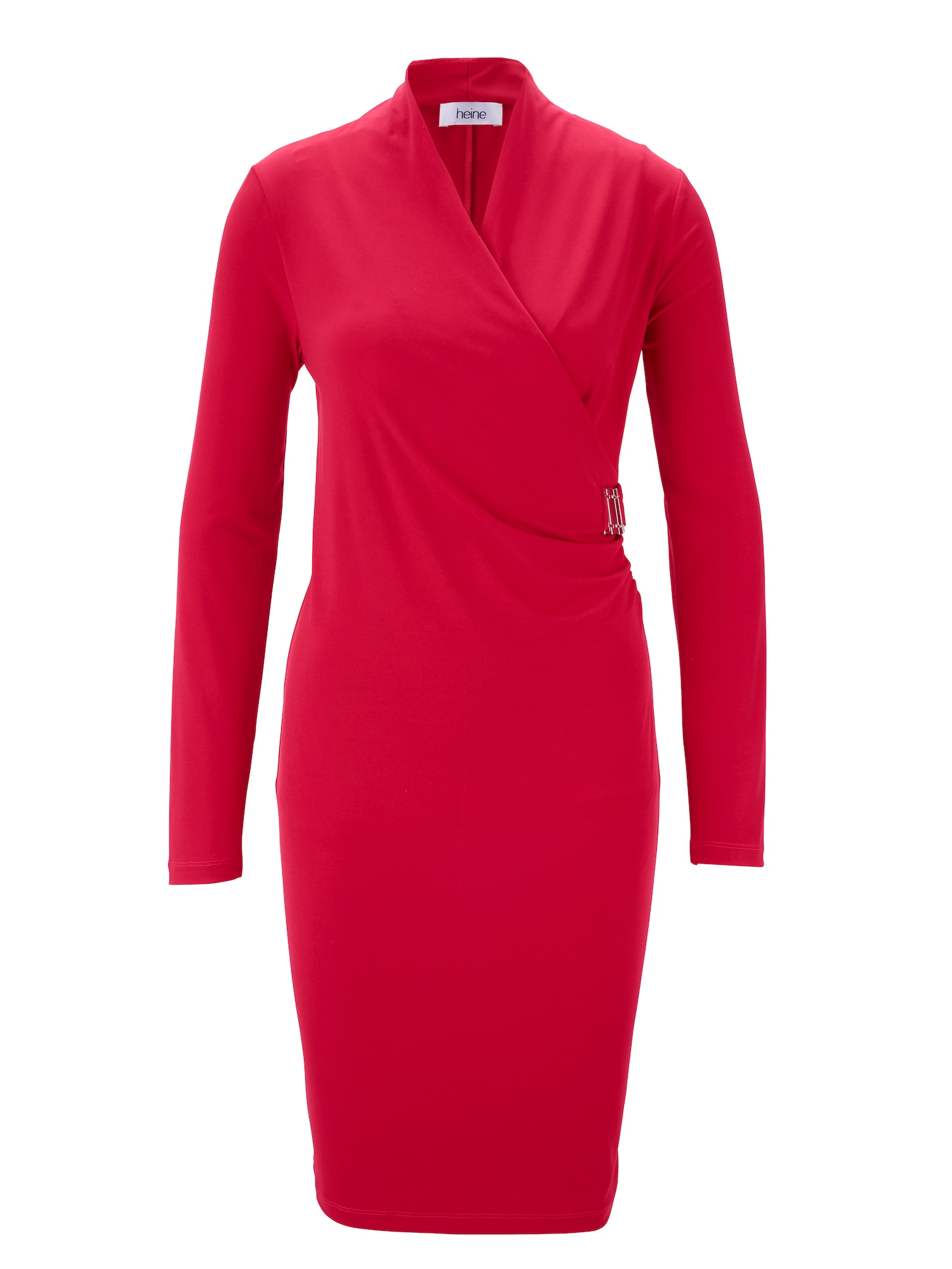 Pouzdrové šaty červená stříbrná Heine