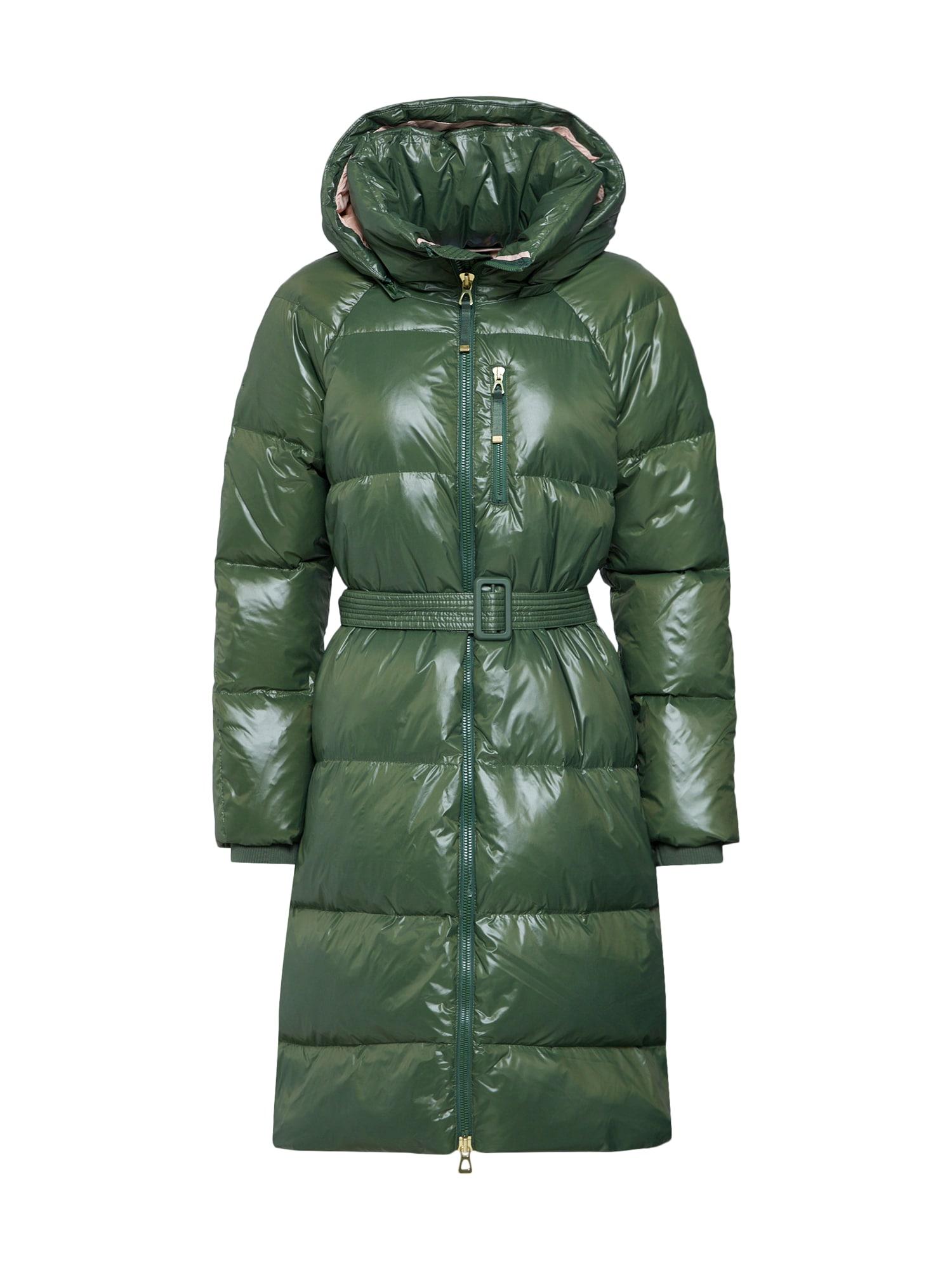 Přechodný kabát tmavě zelená GAP