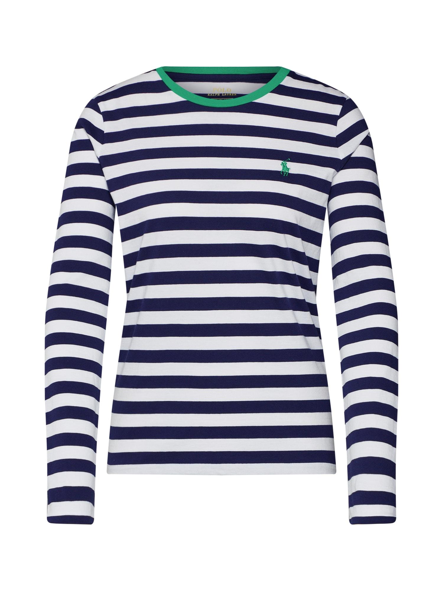 Tričko LS T W PP-LONG SLEEVE-KNIT námořnická modř bílá POLO RALPH LAUREN