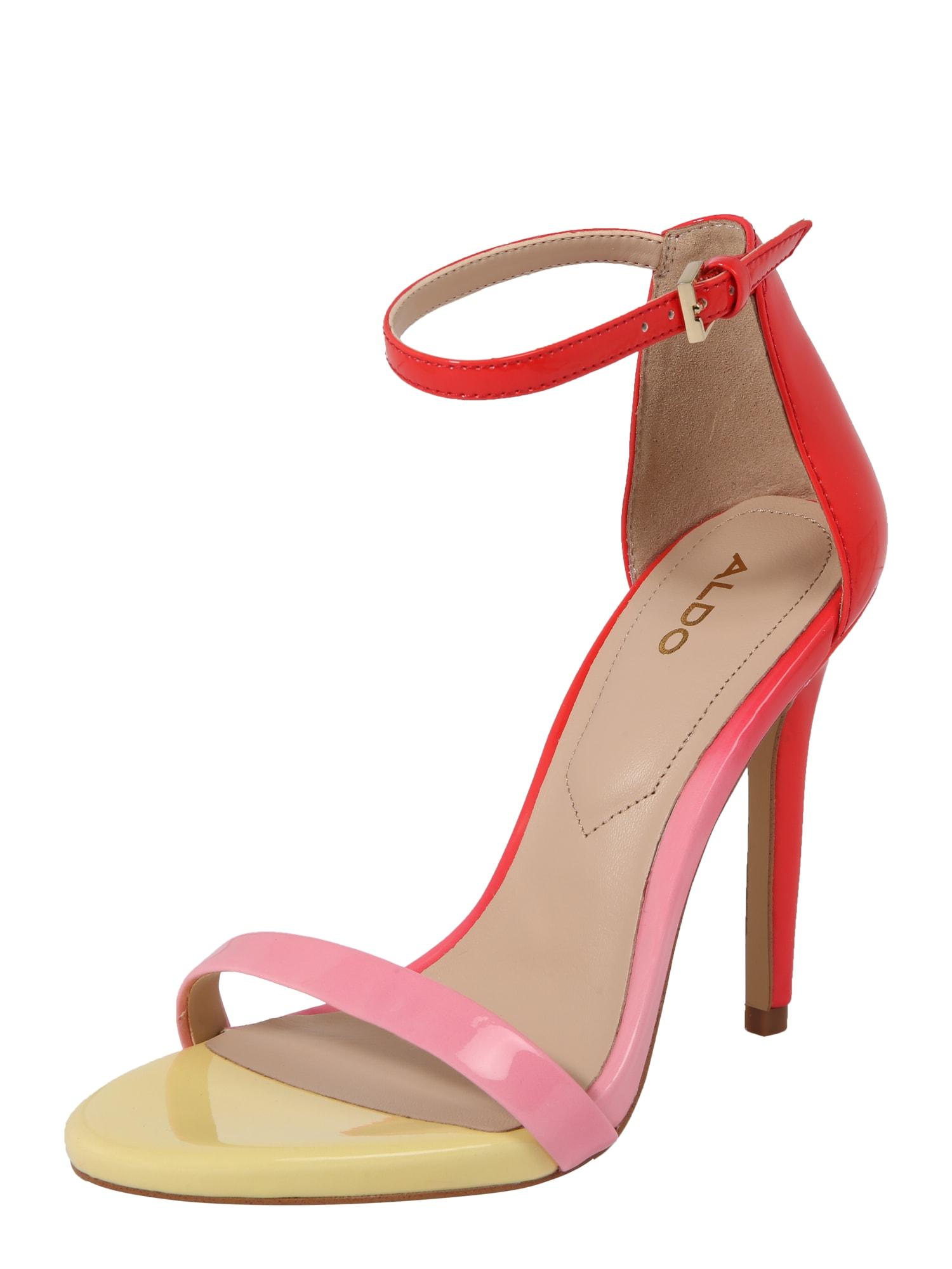 Páskové sandály CARAA žlutá pink červená ALDO