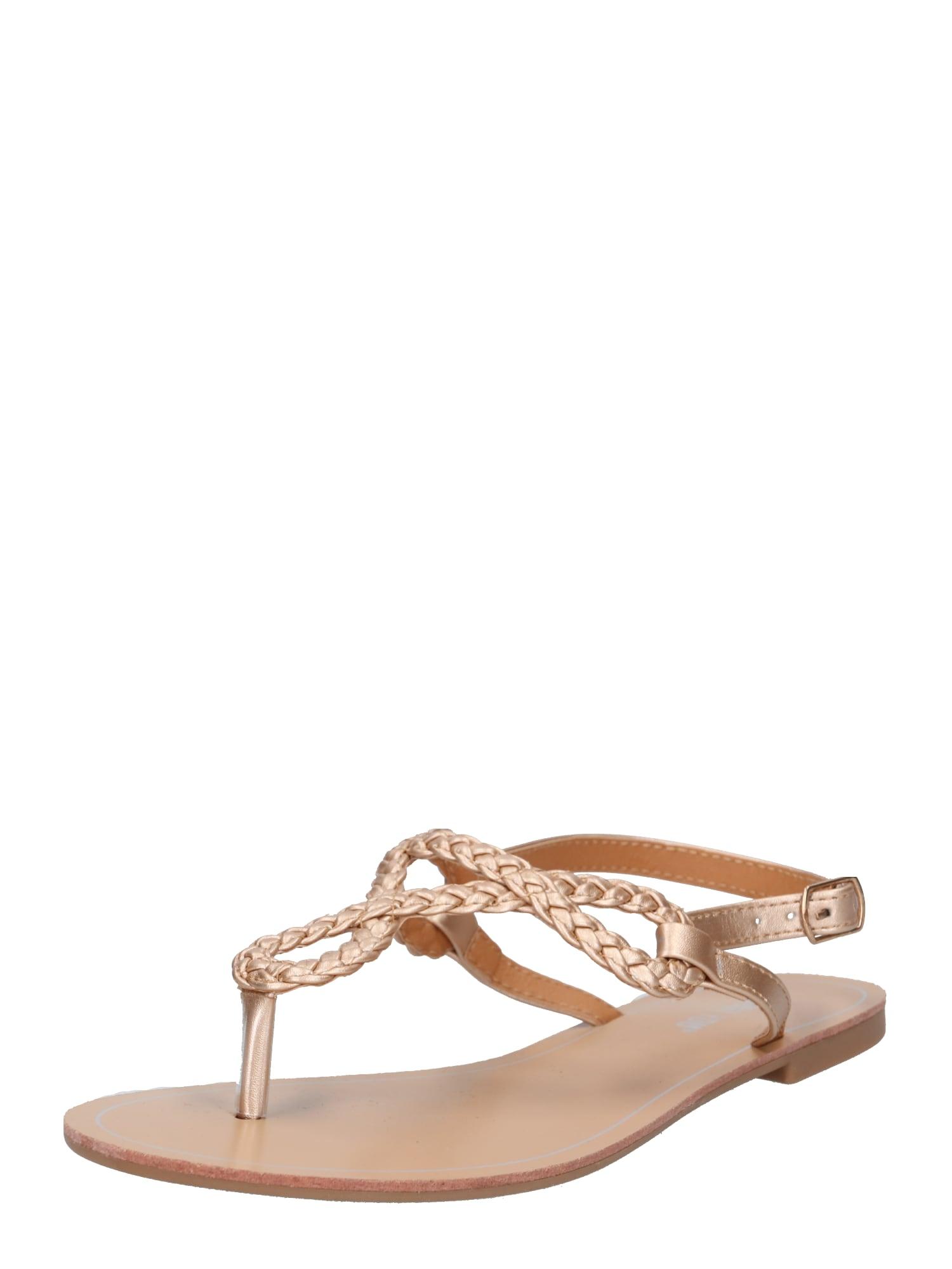 Sandály Sabrina zlatá ABOUT YOU