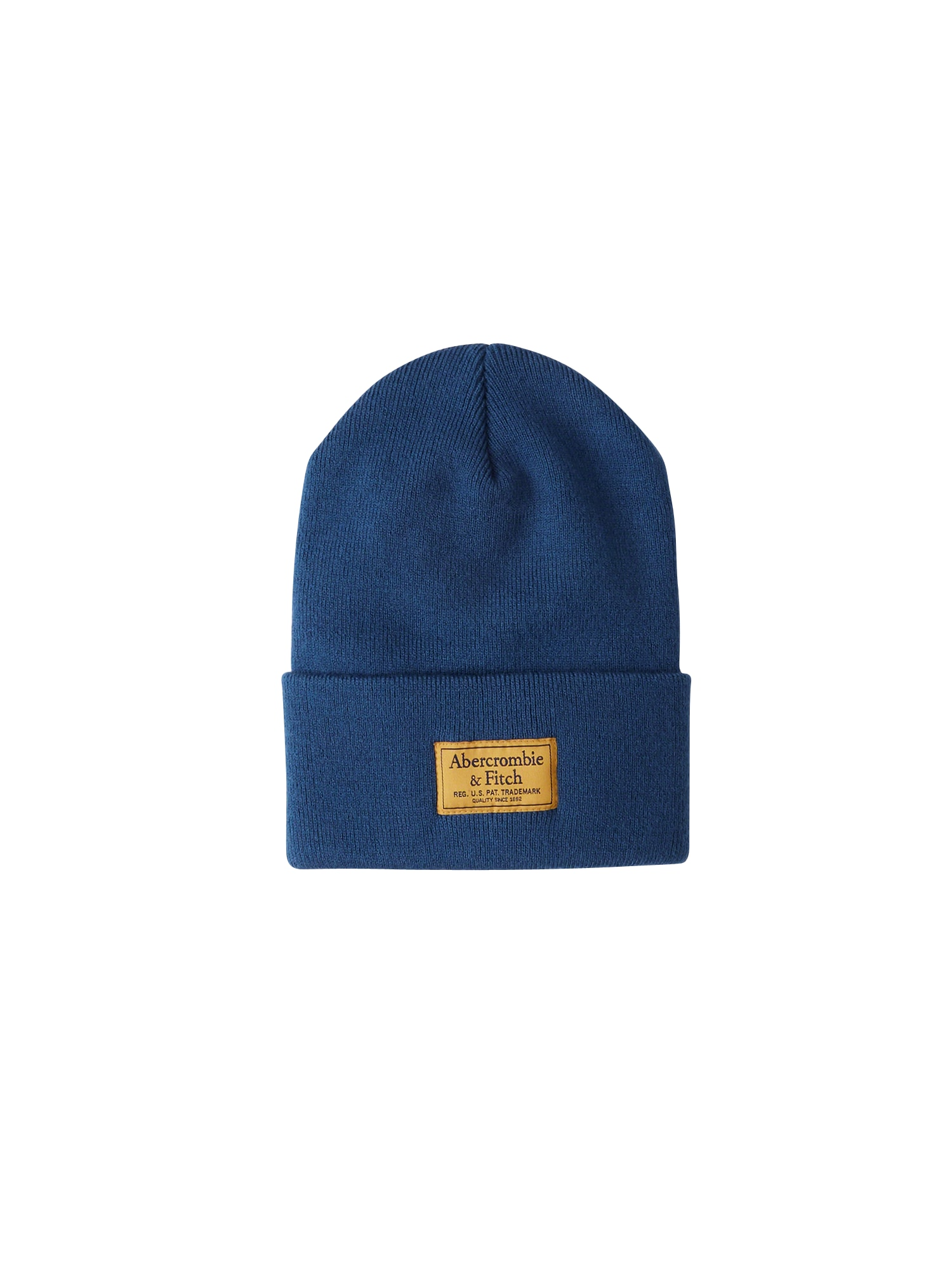 Abercrombie & Fitch, Heren Muts 'BTS18-TURN UP BEANIE COLOR 4CC', blauw / goudgeel