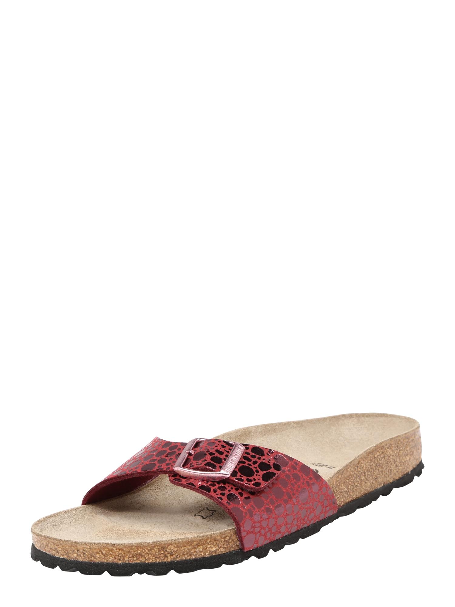 Pantofle Madrid kaštanově hnědá červená BIRKENSTOCK