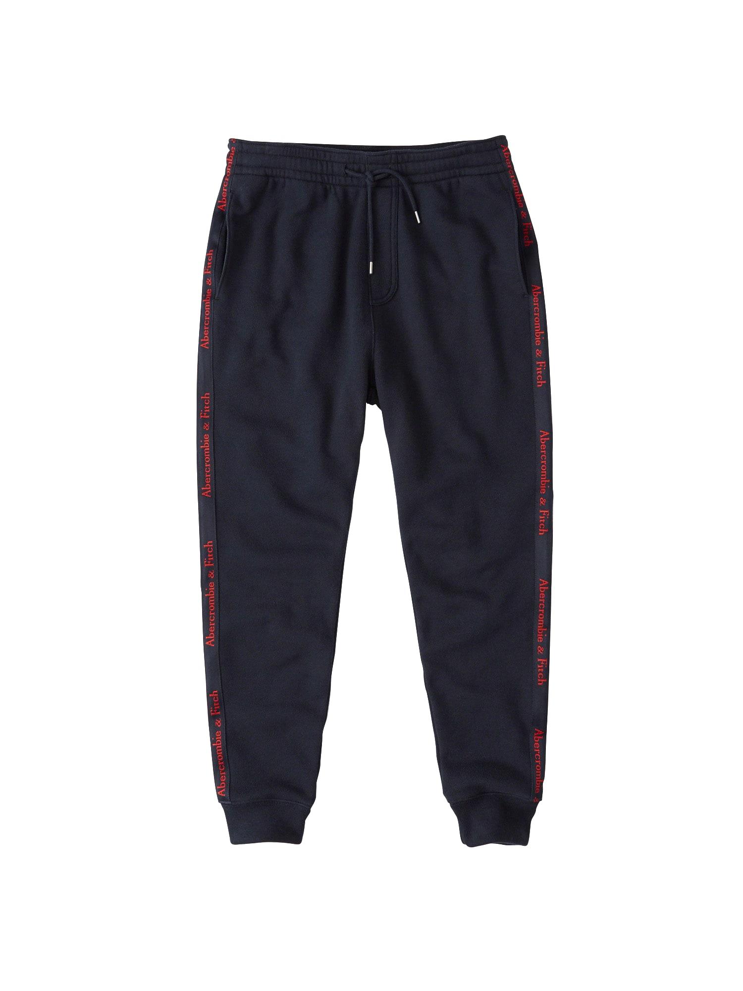 Kalhoty CHAIN námořnická modř Abercrombie & Fitch