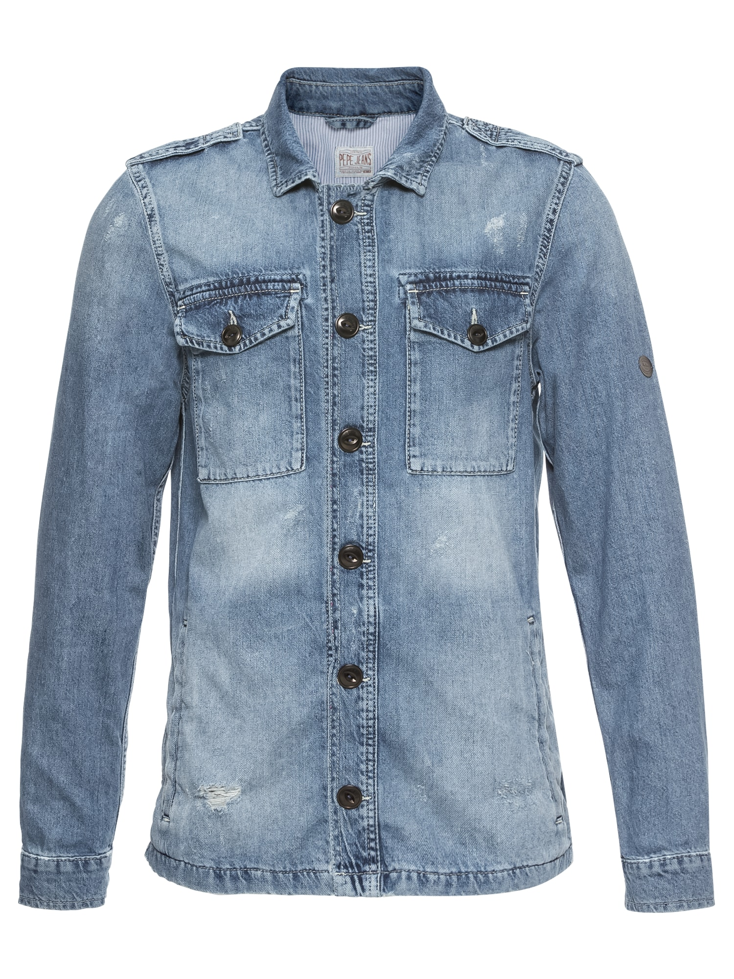 Pepe Jeans Heren Overhemd SLOUGH blue denim