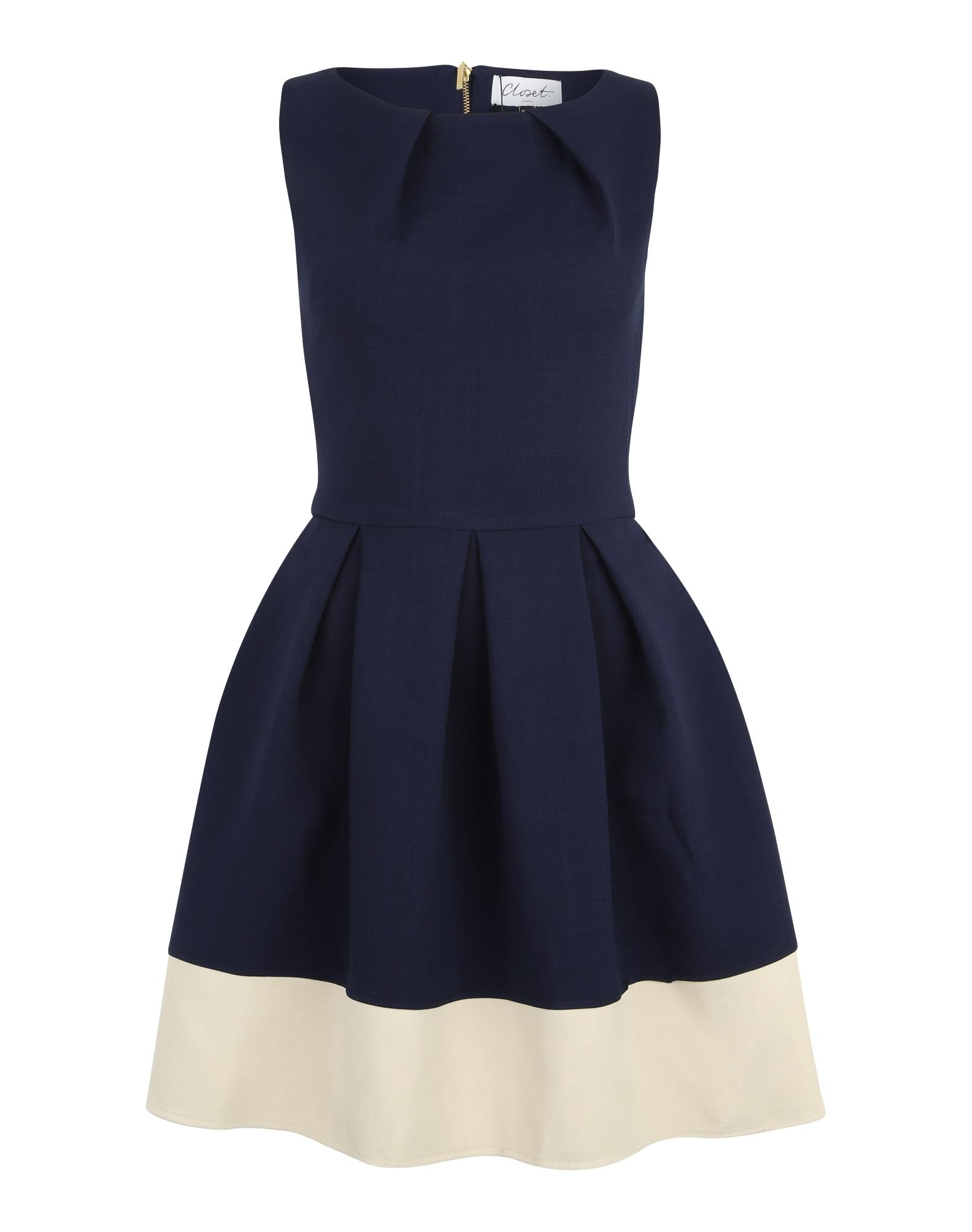 Koktejlové šaty námořnická modř Closet London