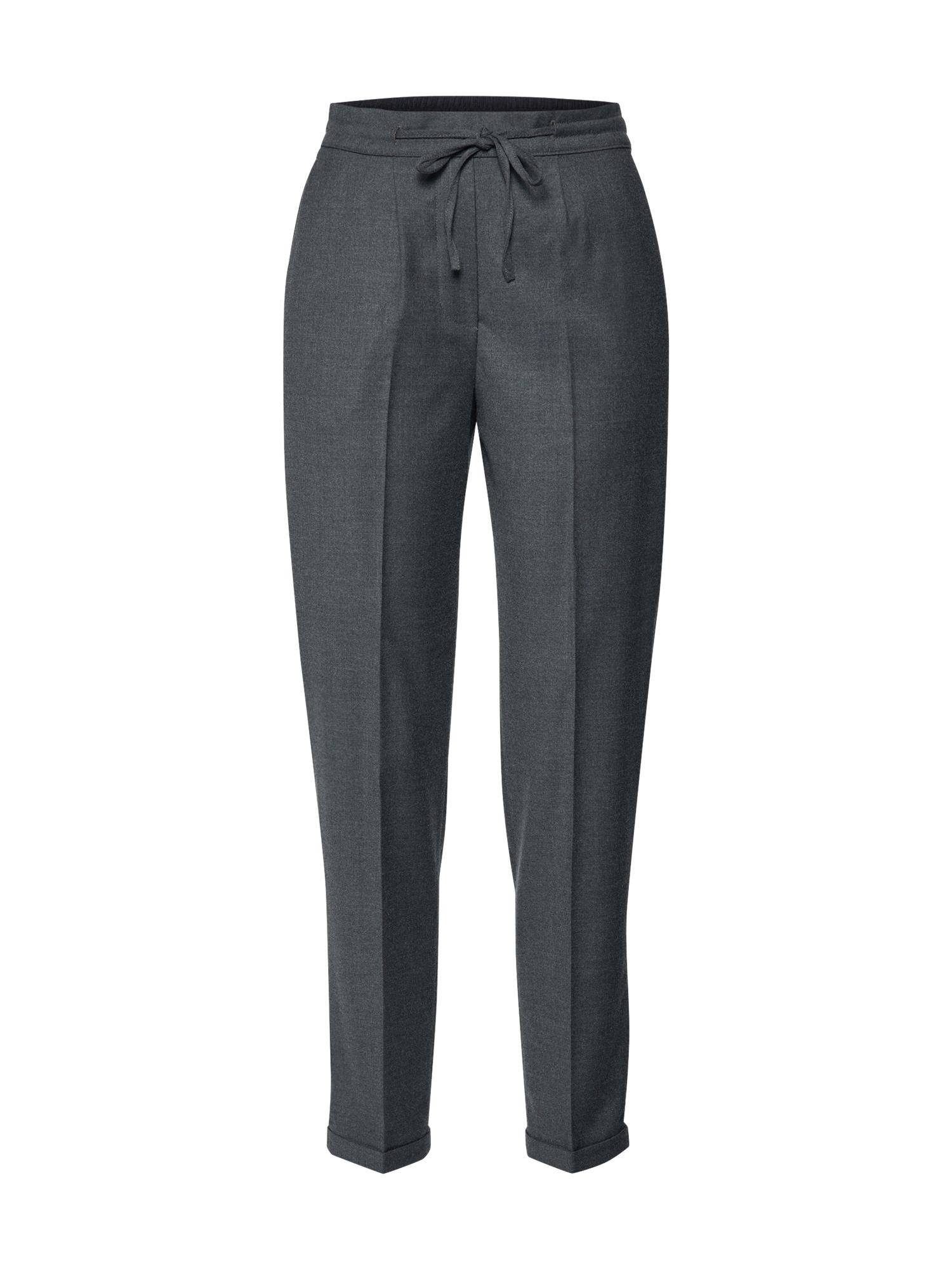 Kalhoty se sklady v pase DRAWSTRING tmavě šedá Calvin Klein