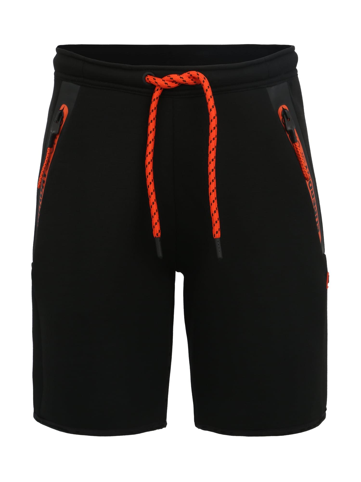 Sportovní kalhoty Gym Tech oranžově červená černá Superdry