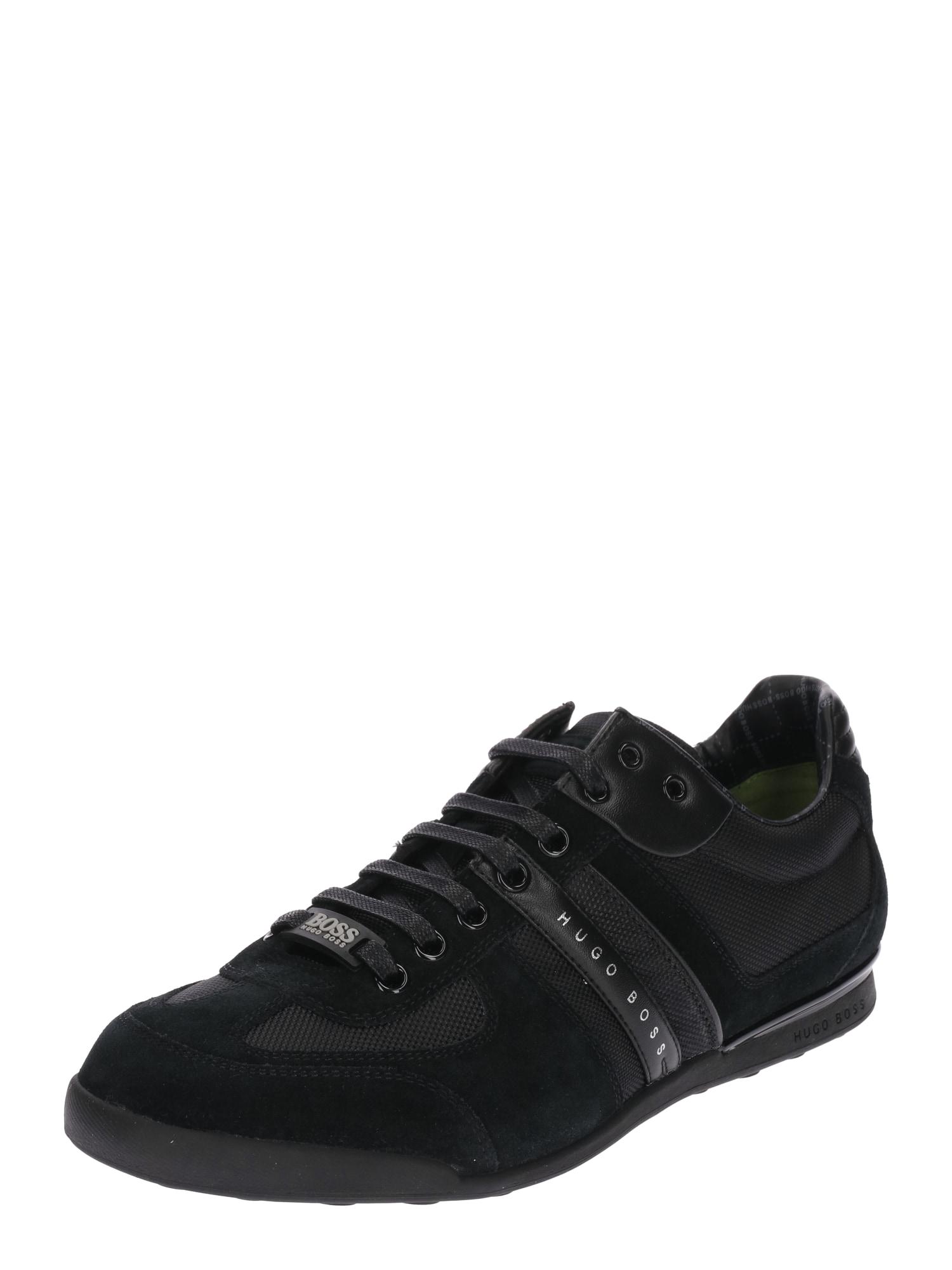 Sportovní šněrovací boty Akeen světle šedá černá BOSS