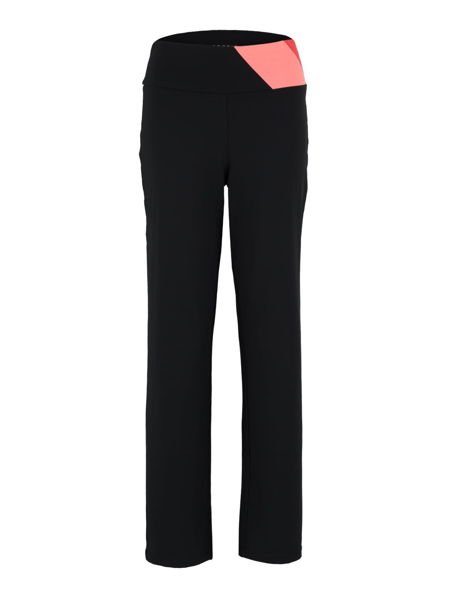 Sportovní kalhoty korálová černá ESPRIT SPORTS