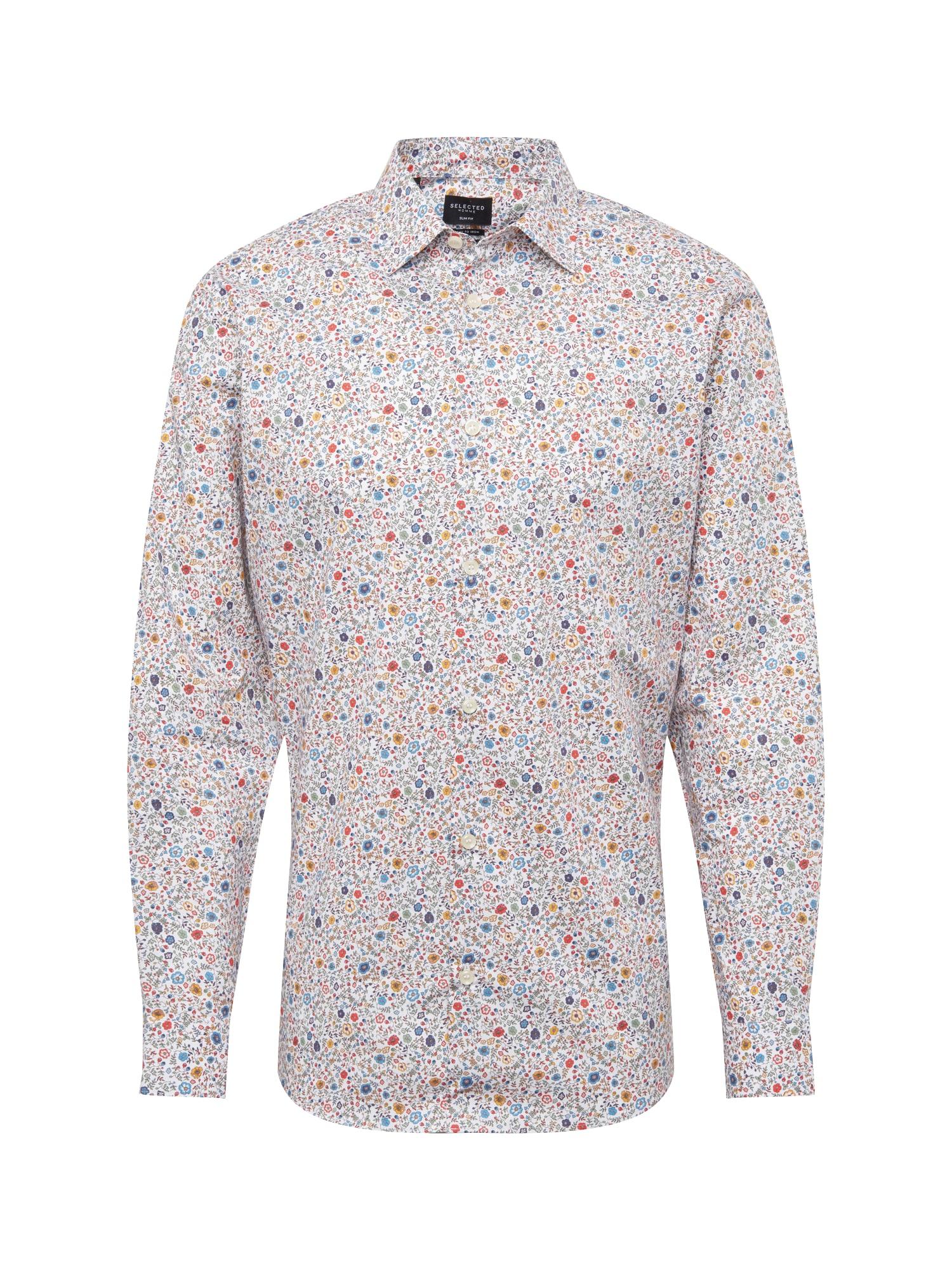 Košile SLIMPEN-GARDEN mix barev bílá SELECTED HOMME