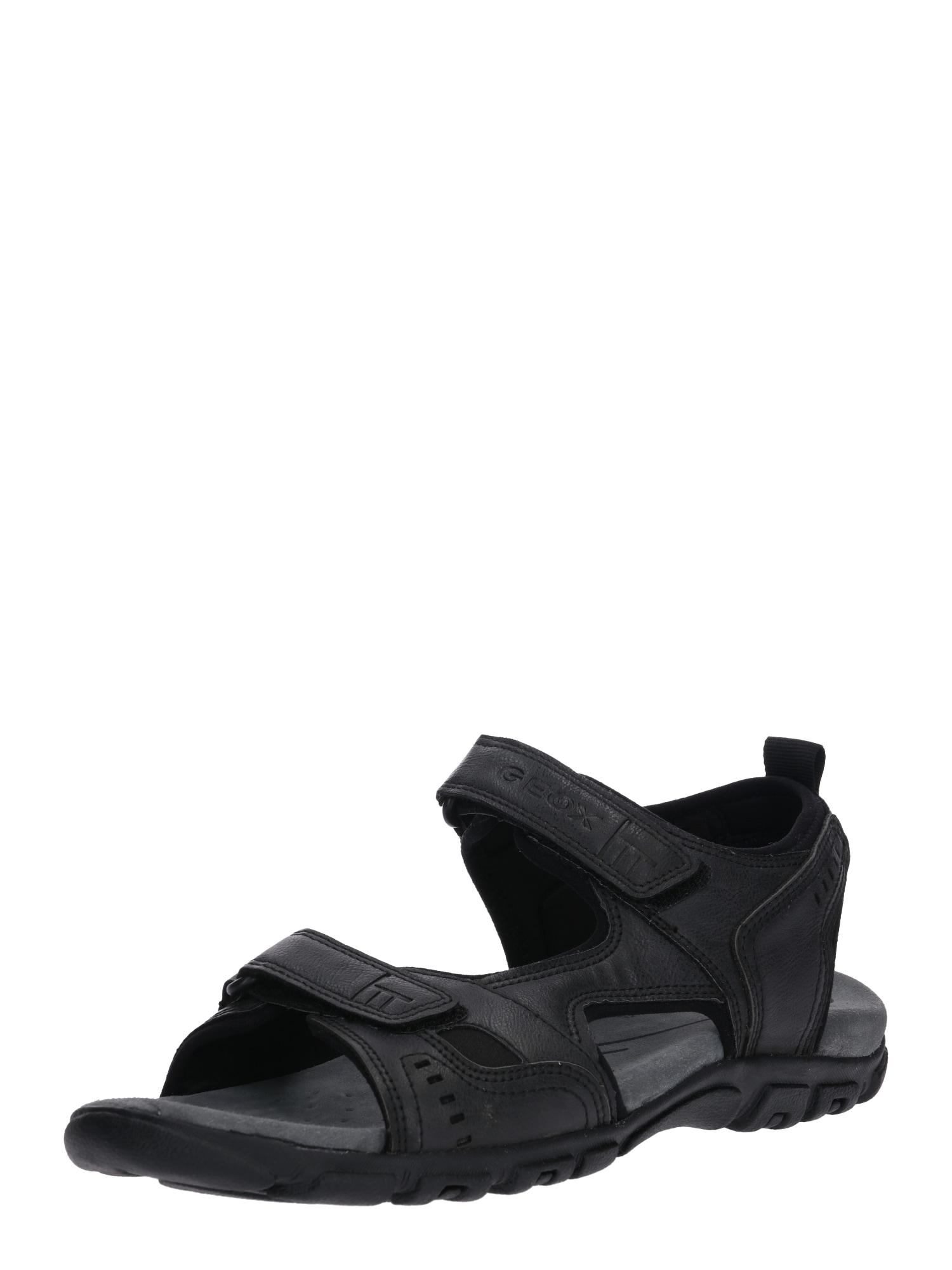 Sandály UOMO STRADA černá GEOX
