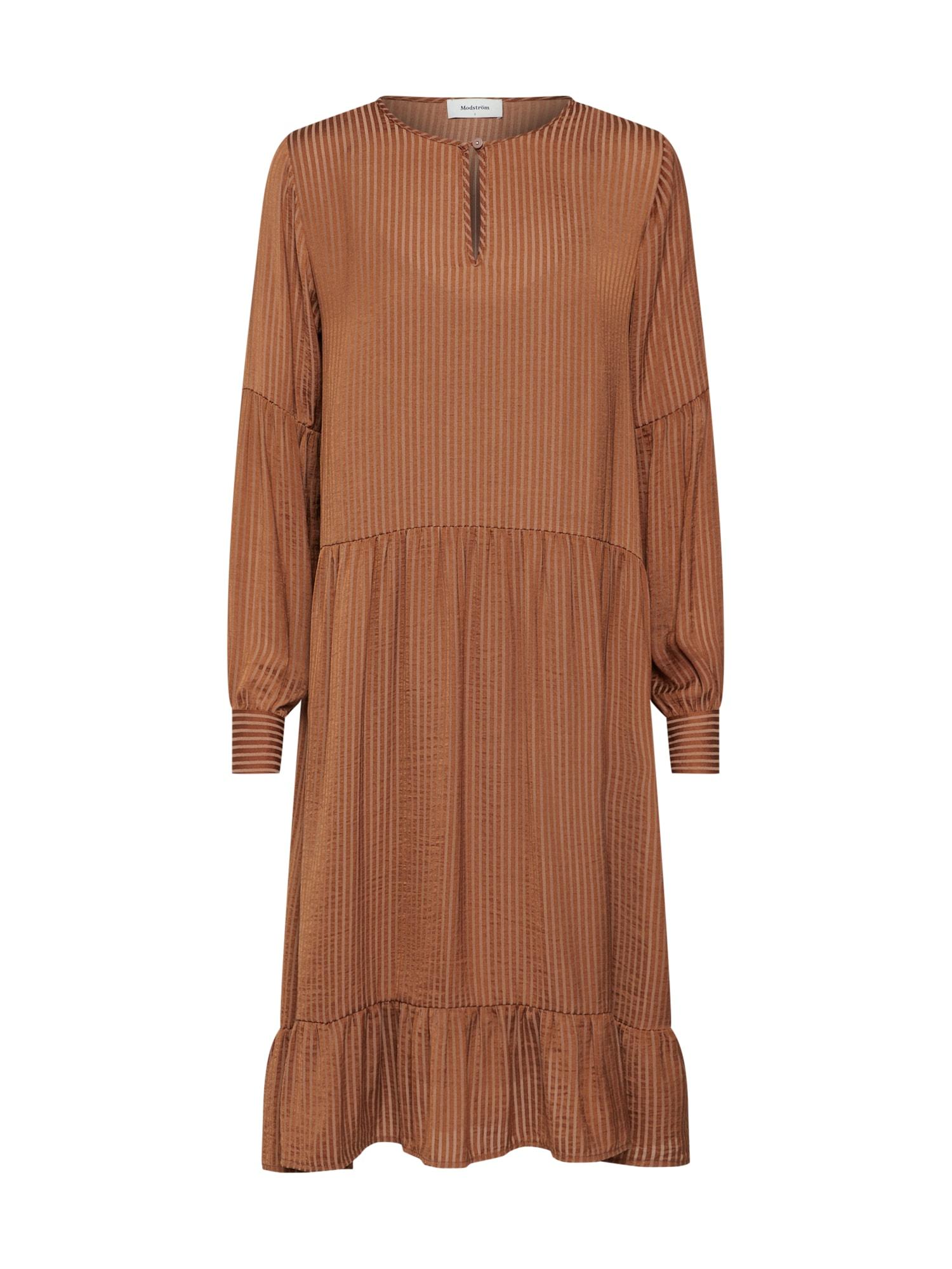 Šaty Rich dress hnědá Modström