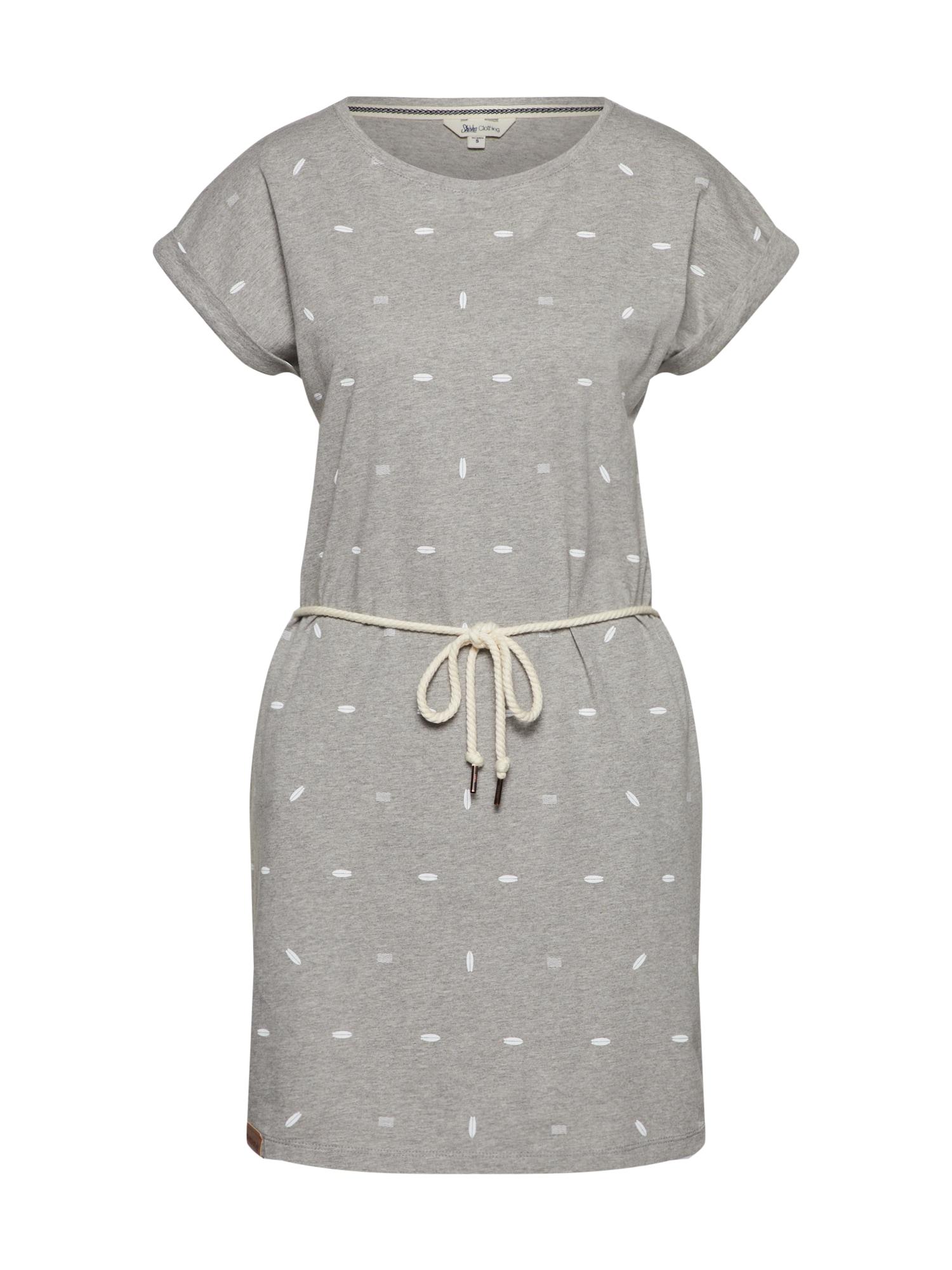 Letní šaty šedý melír SHISHA