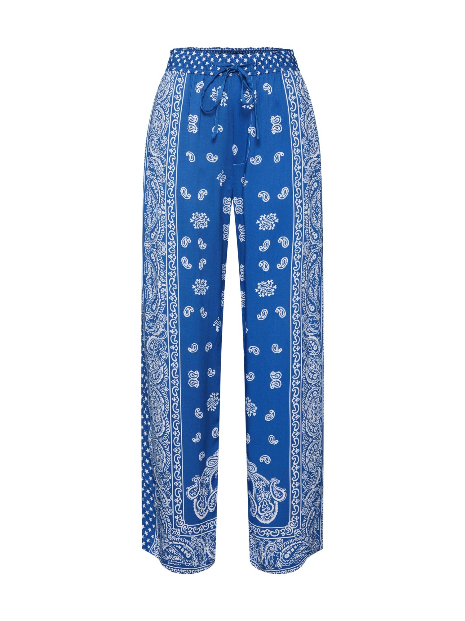 Kalhoty modrá bílá POLO RALPH LAUREN