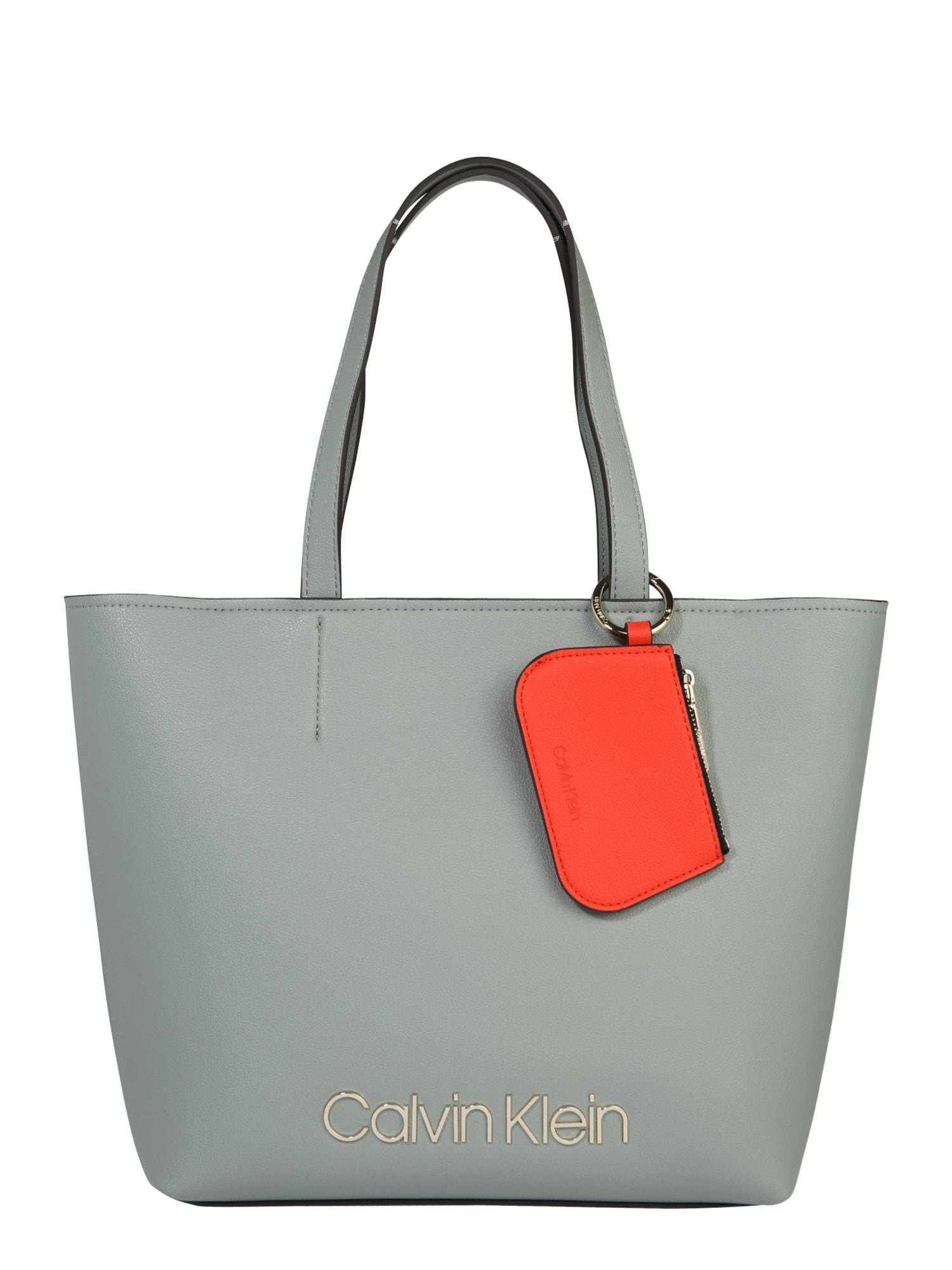 Nákupní taška světle šedá Calvin Klein