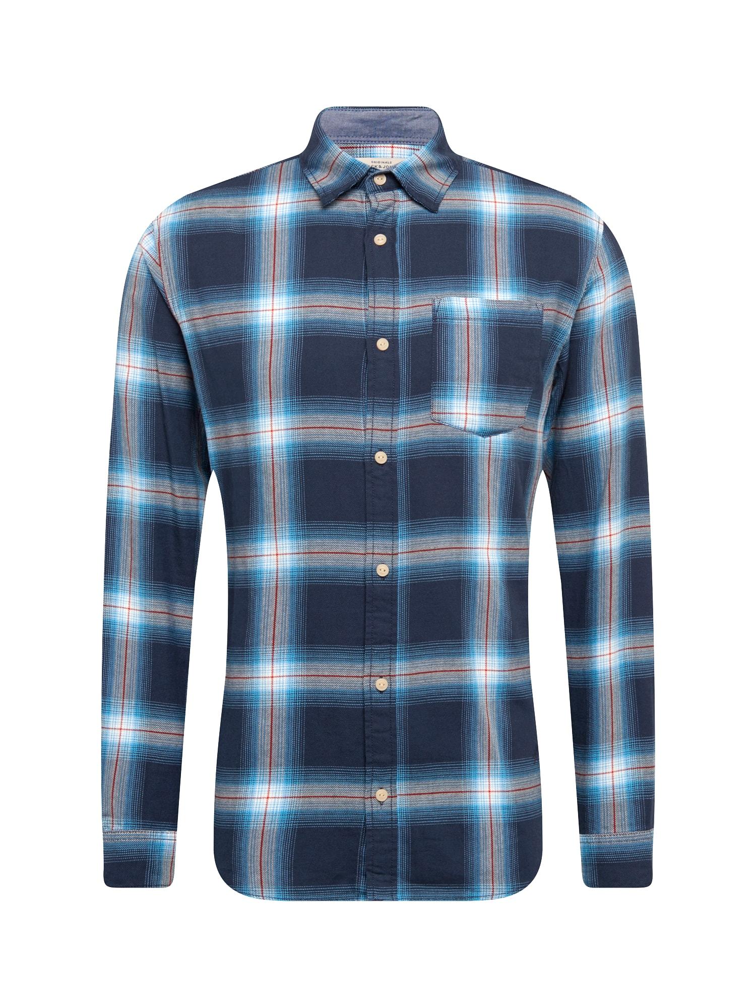 Košile Jornico modrá světlemodrá bílá JACK & JONES