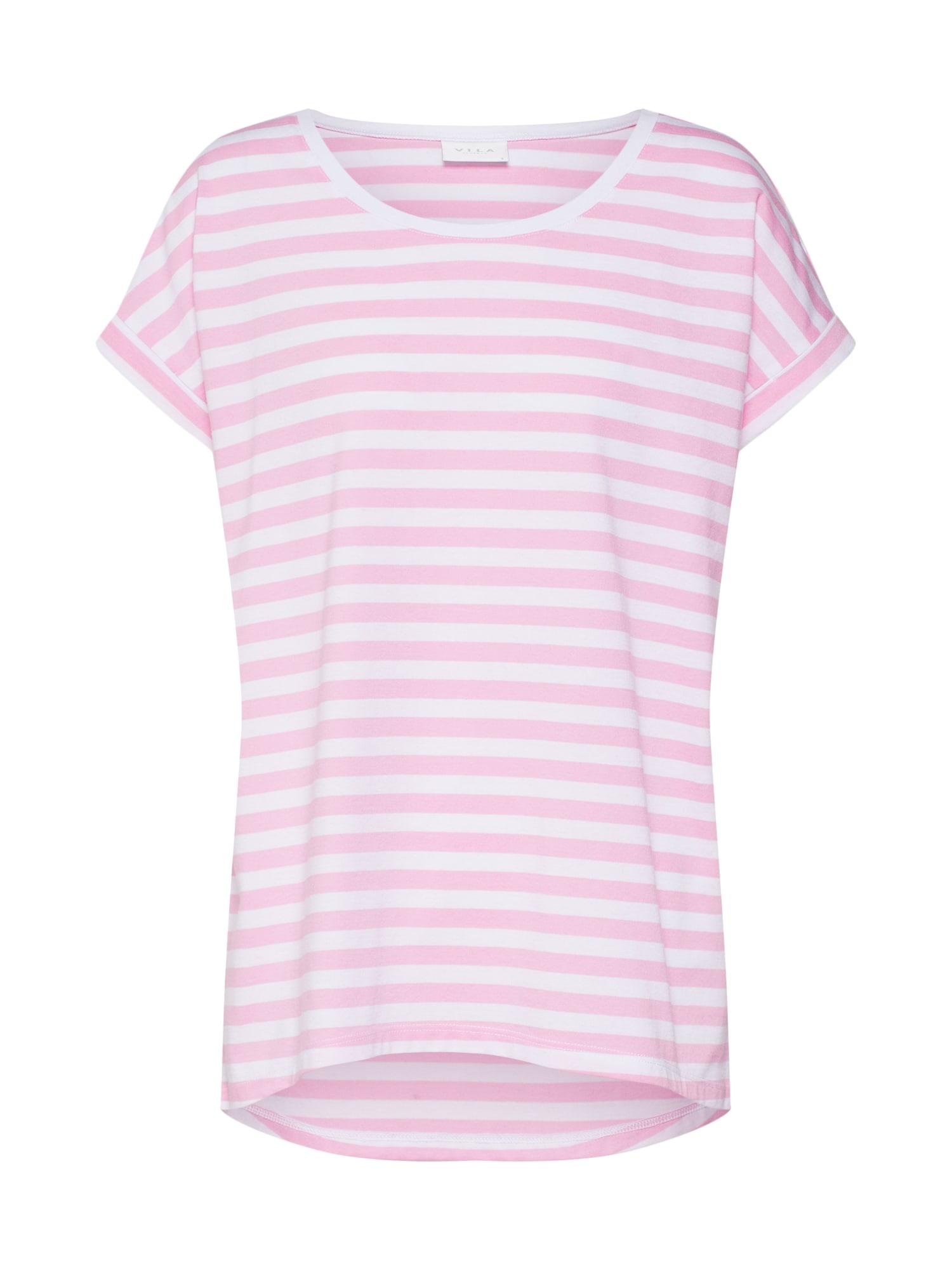 Tričko Dreamers pink bílá VILA