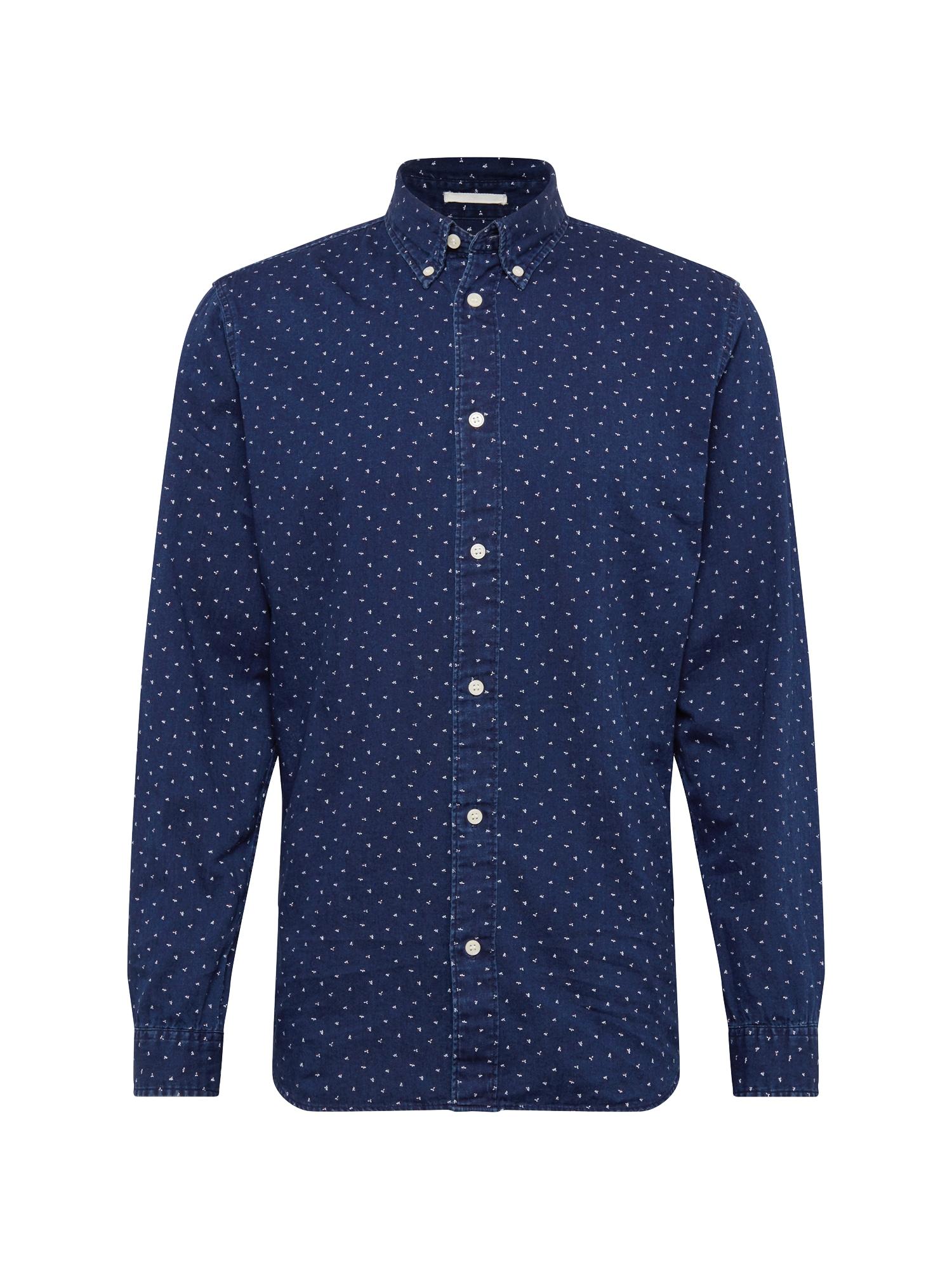 Košile SLIMNOLAN-PRE SHIRT LS MIX W tmavě modrá bílá SELECTED HOMME