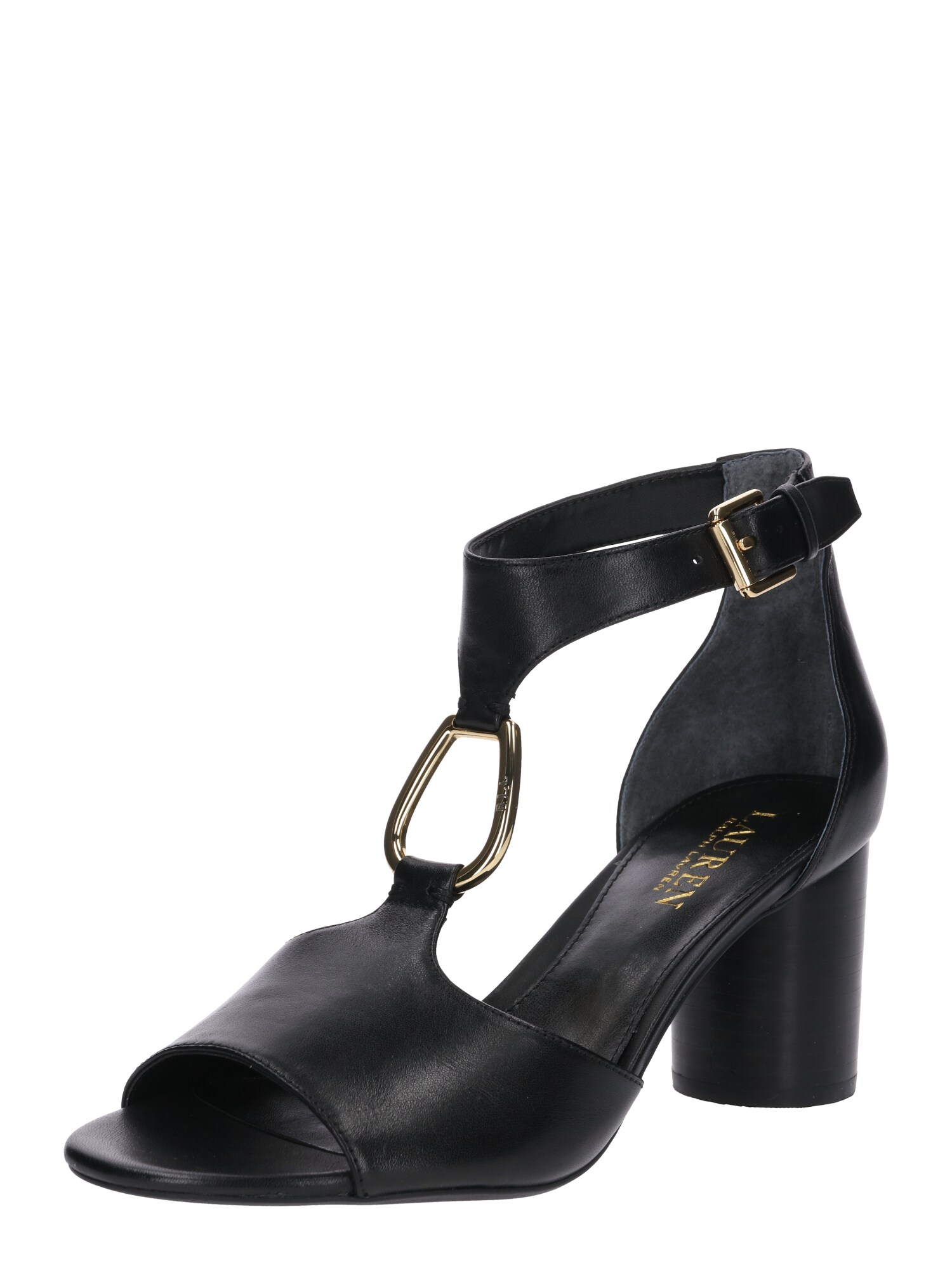 Sandály Elesia černá Lauren Ralph Lauren