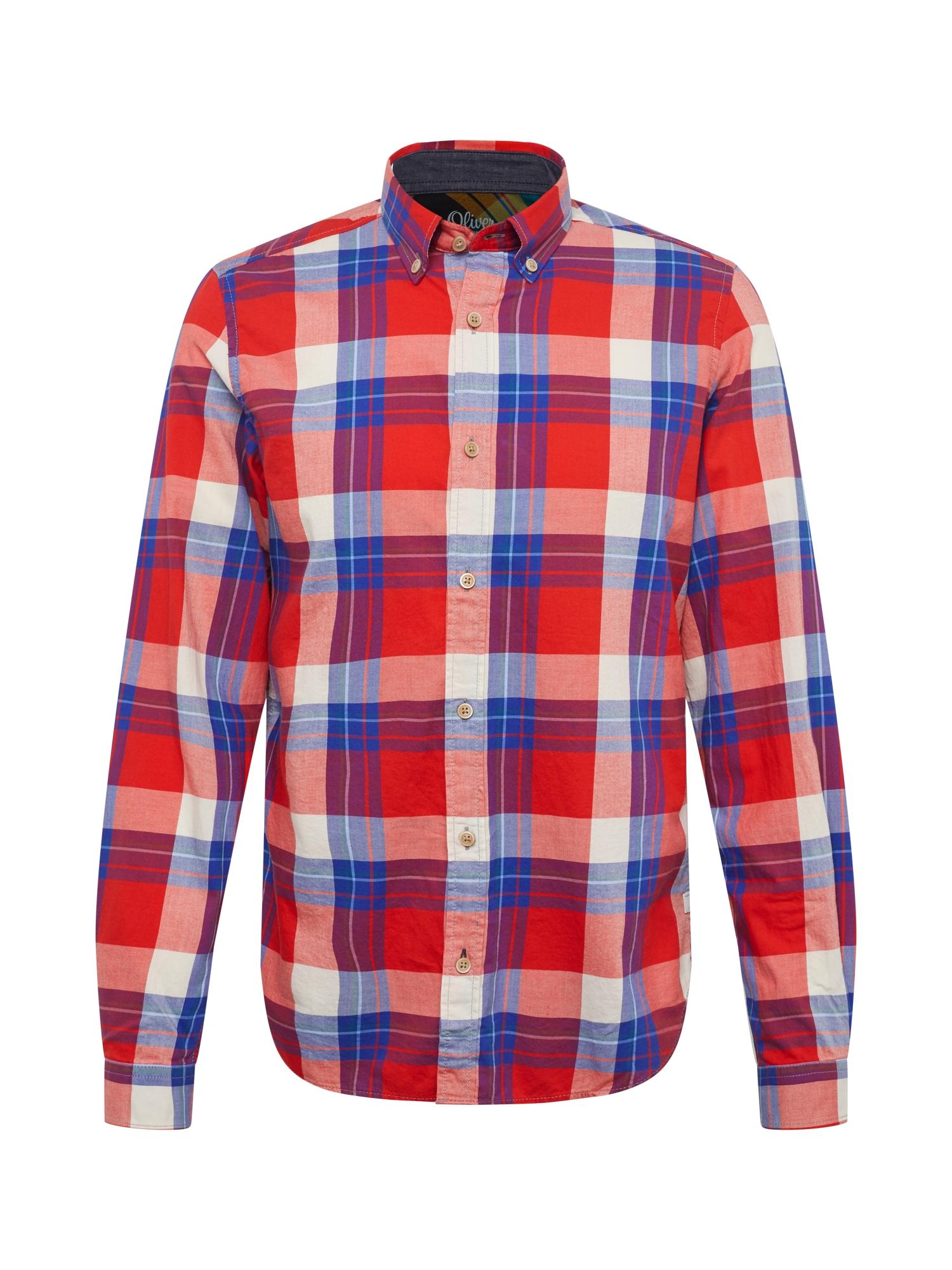 Košile modrá světle červená bílá S.Oliver RED LABEL