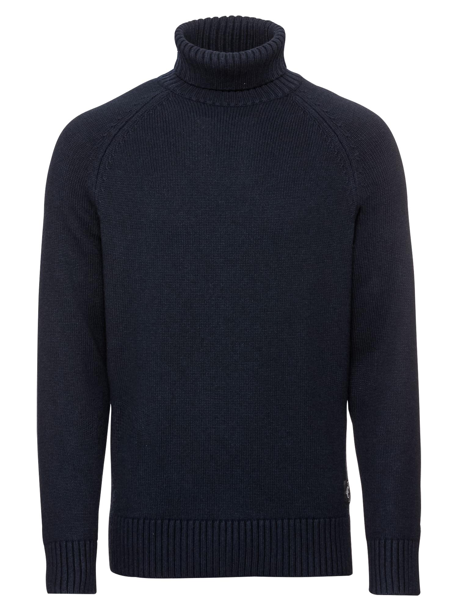 Svetr WOOL BLEND MONOGRAM TURTLE NECK noční modrá Calvin Klein Jeans