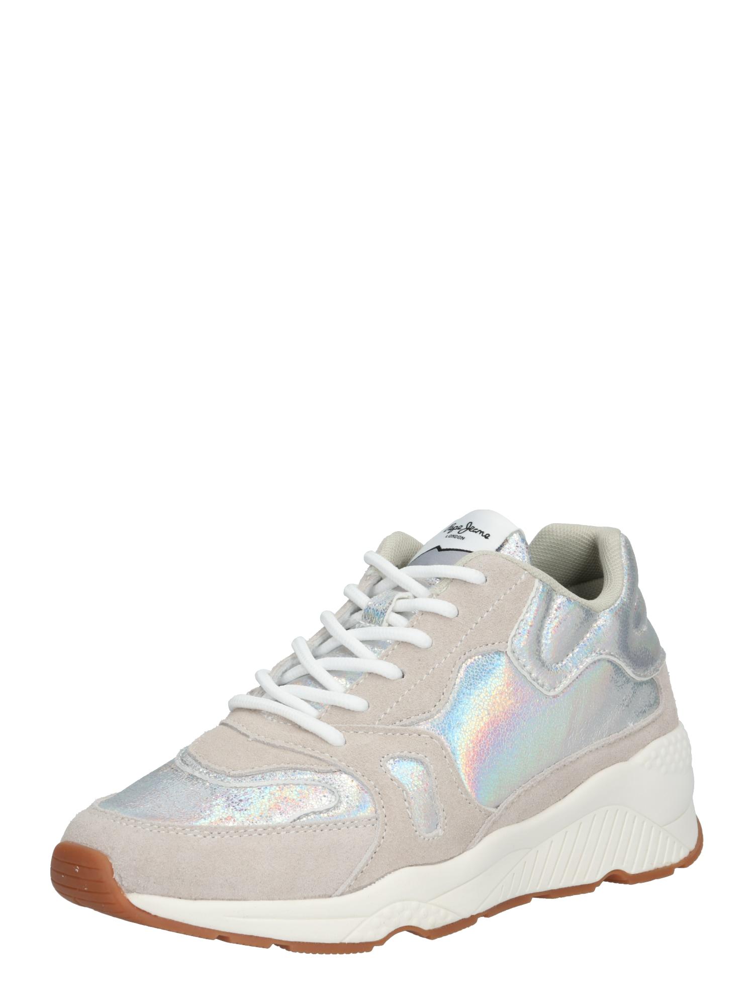 Tenisky HARLOW UP REFLECT stříbrná Pepe Jeans